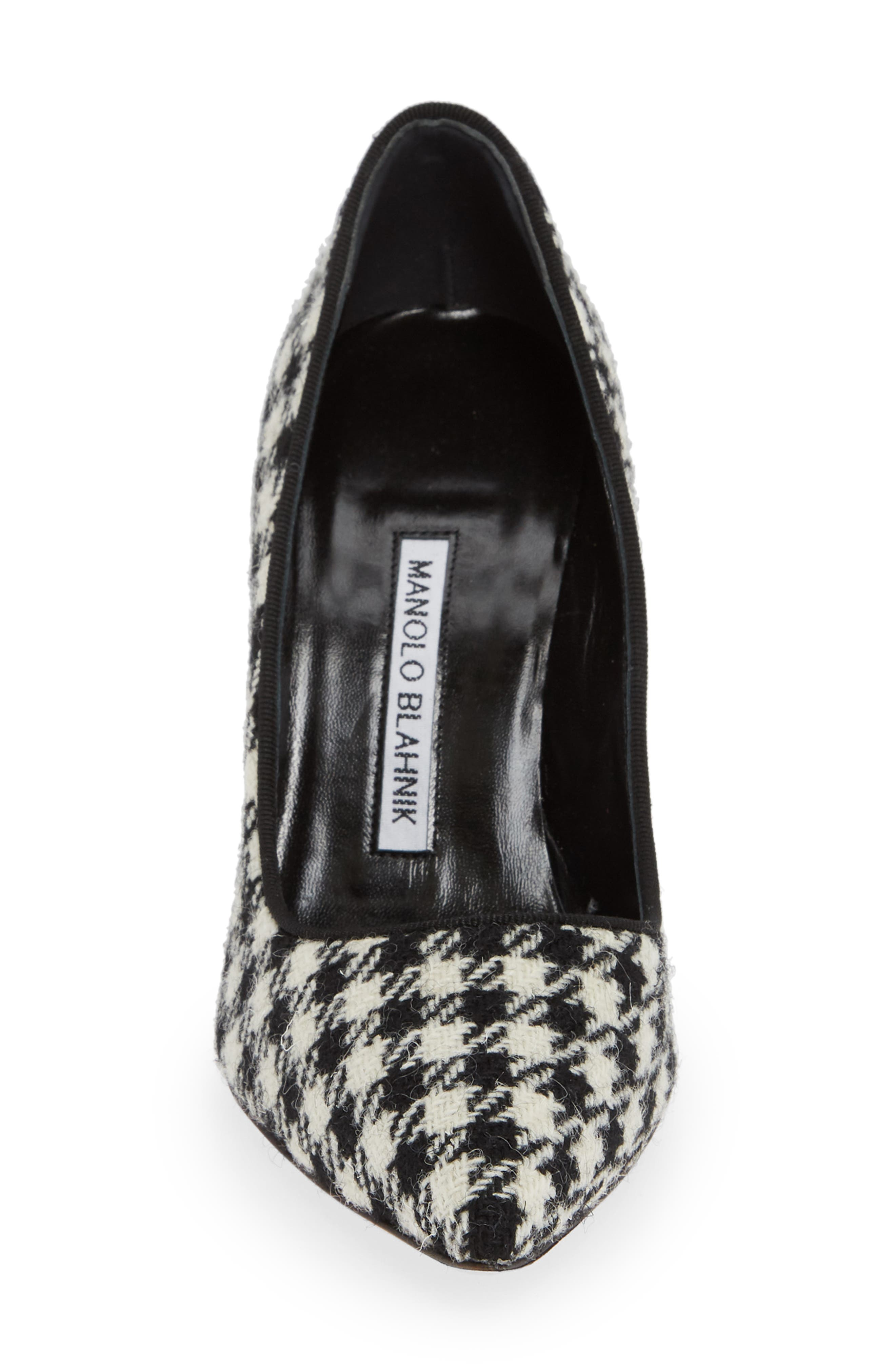 BB Pointy Toe Pump,                             Alternate thumbnail 4, color,                             HOUNDSTOOTH