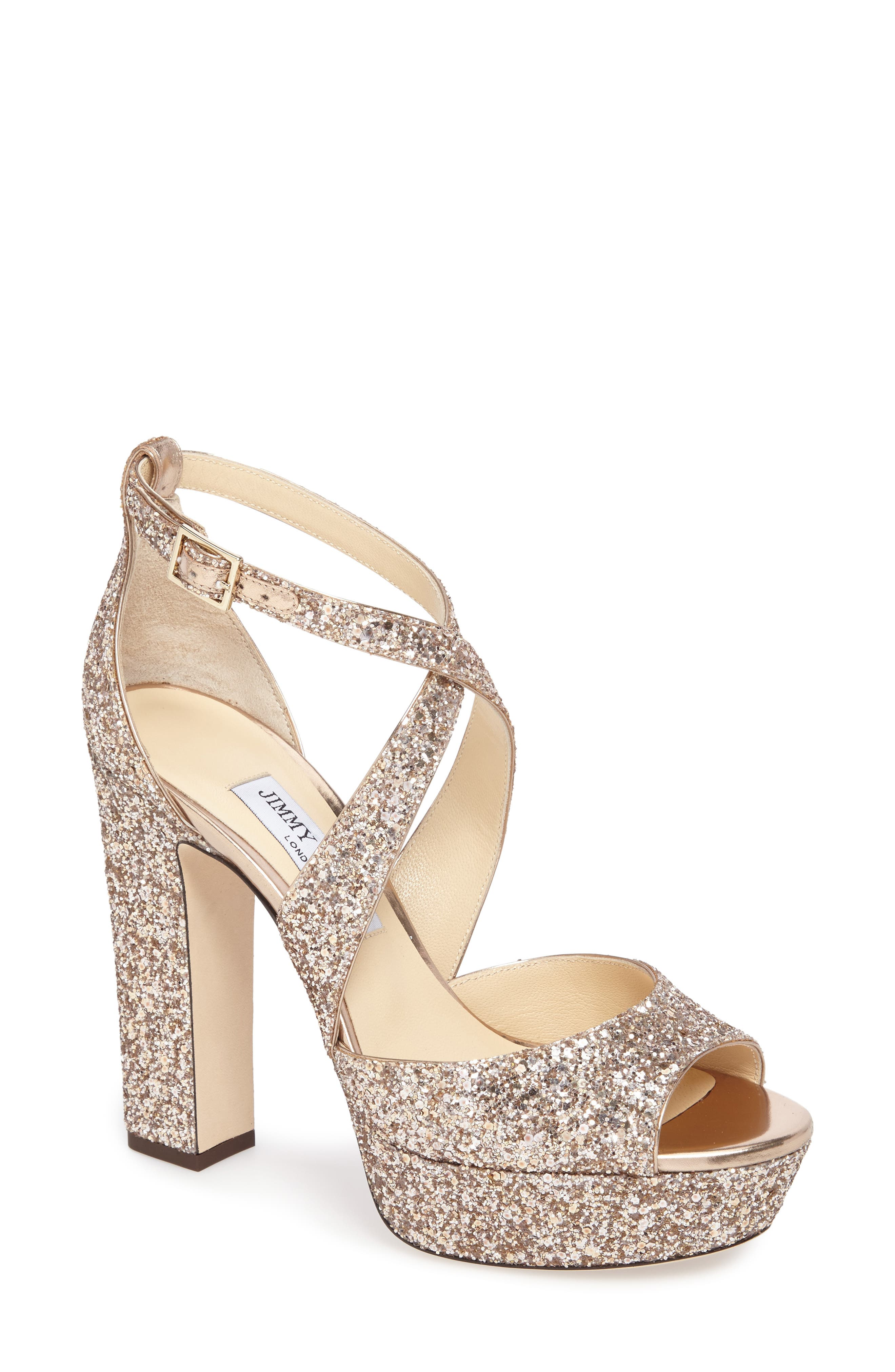April Glitter Platform Sandal,                         Main,                         color, 650