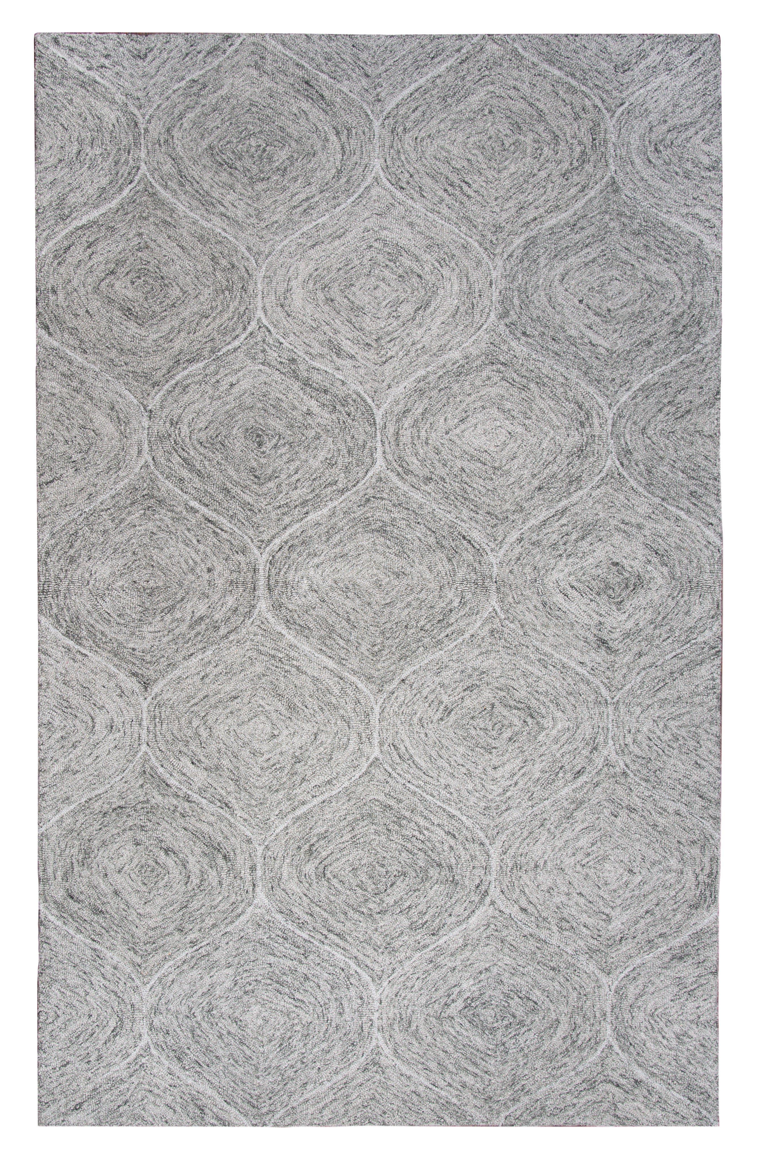 Irregular Diamond Hand Tufted Wool Area Rug,                             Main thumbnail 4, color,