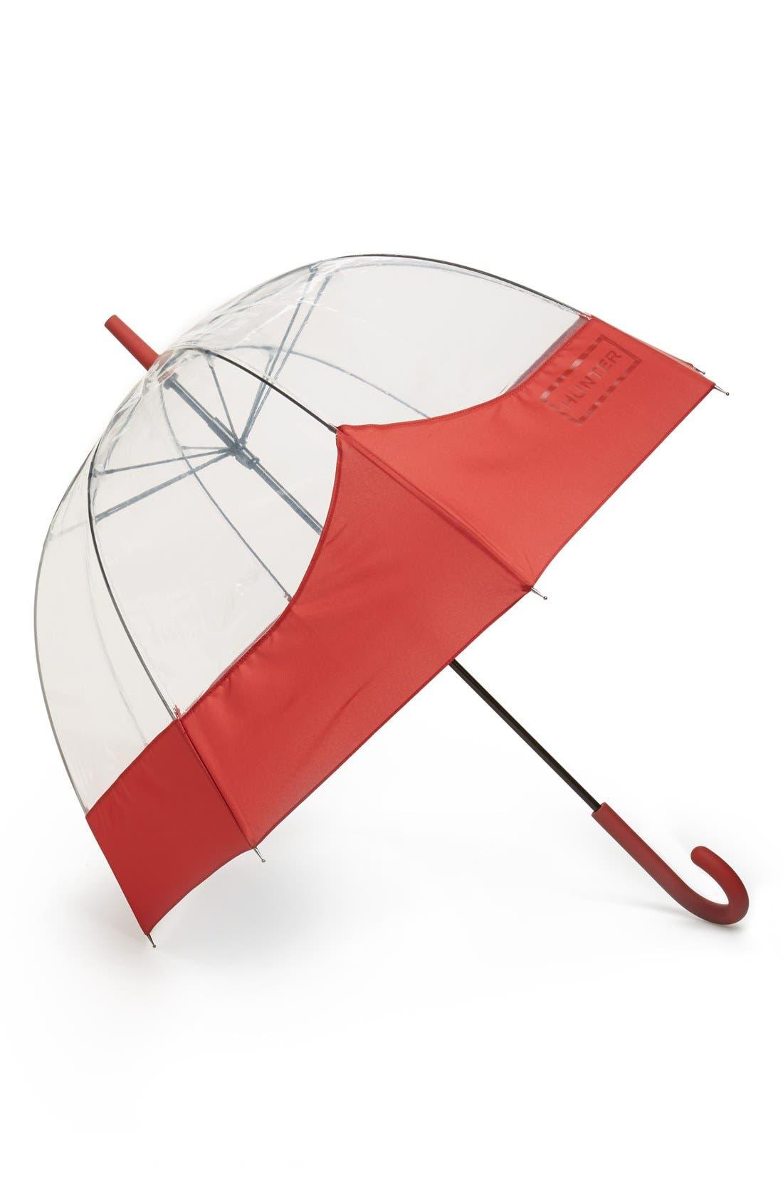 'Moustache' Bubble Umbrella,                         Main,                         color, MILITARY RED