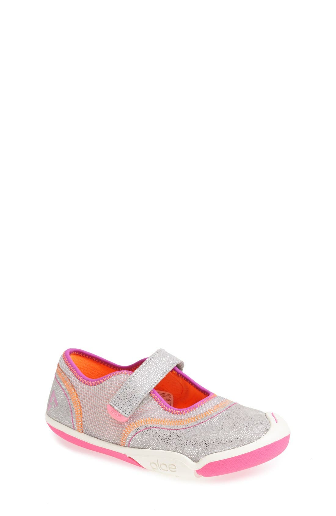 Emme Customizable Mary Jane,                         Main,                         color, SILVER/ PINK