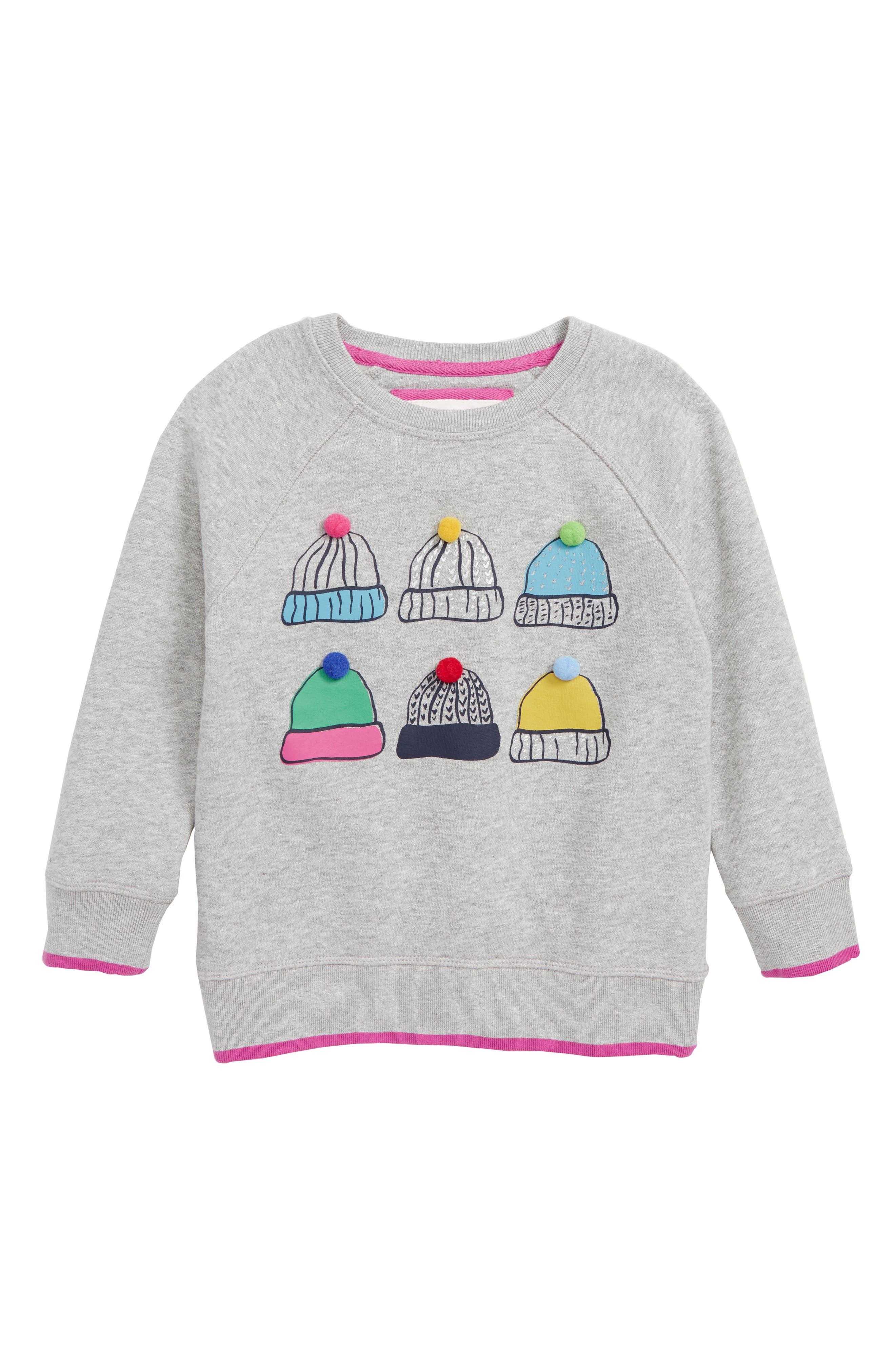MINI BODEN Festive Fun Sweatshirt, Main, color, 054