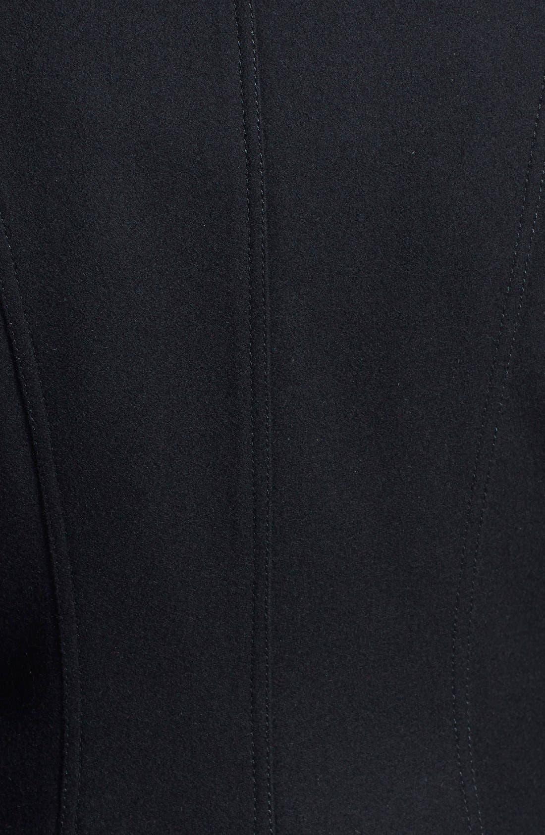 Skirted Wool Blend Coat,                             Alternate thumbnail 3, color,                             001