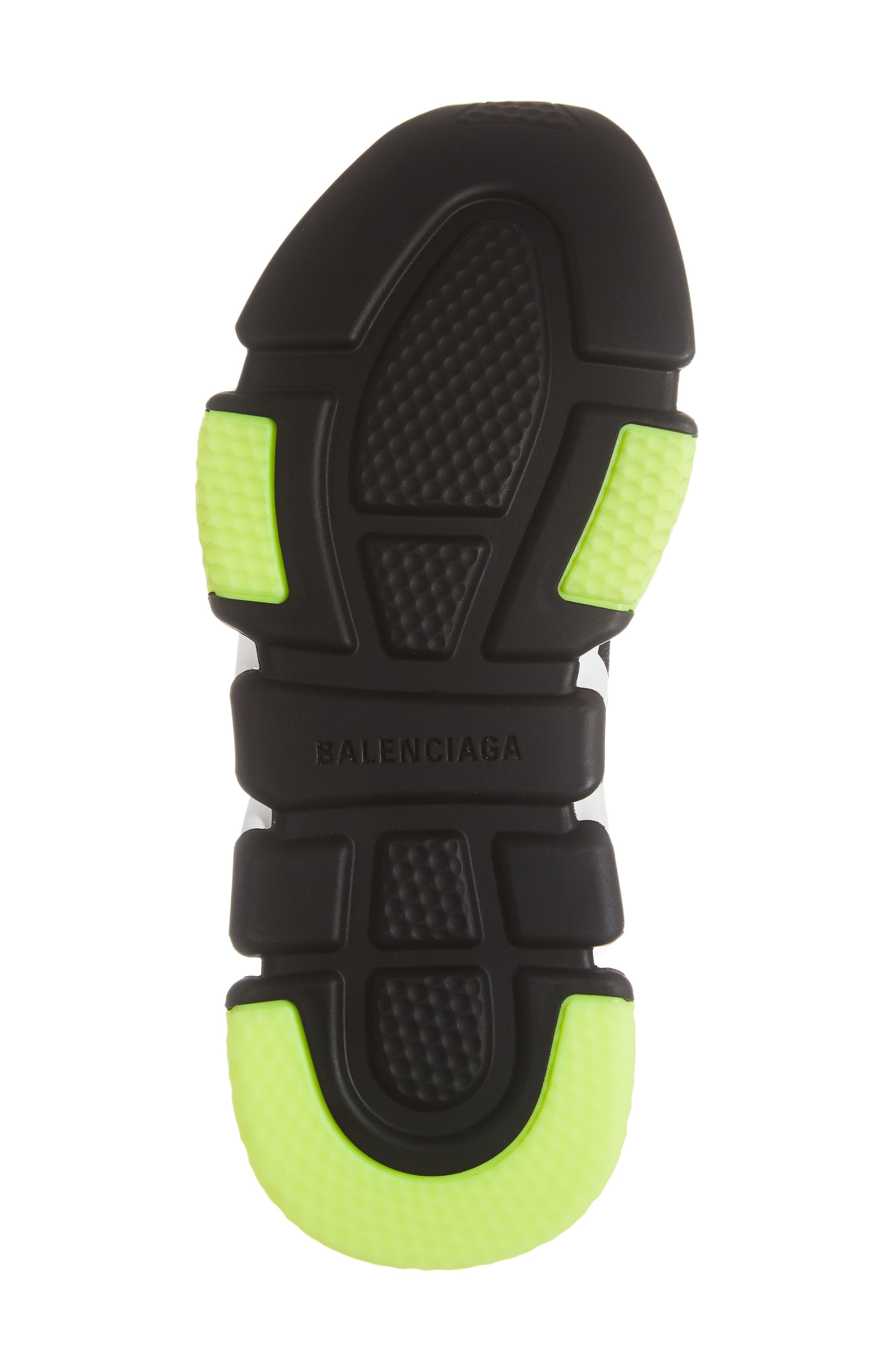 Hi Speed Logo Sock Sneaker,                             Alternate thumbnail 6, color,                             BLACK/ WHITE/ NEON