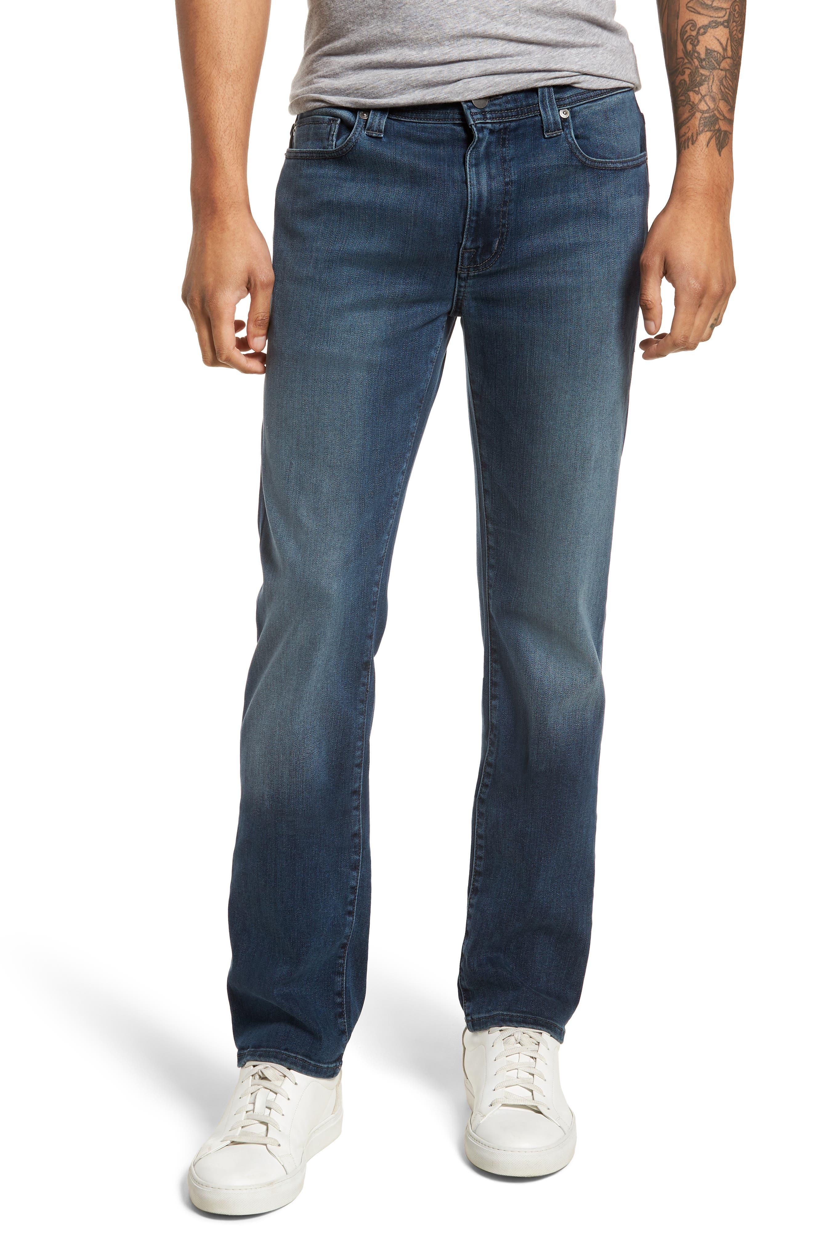 Jimmy Slim Straight Leg Jeans,                             Main thumbnail 1, color,                             ATLAS BLUE