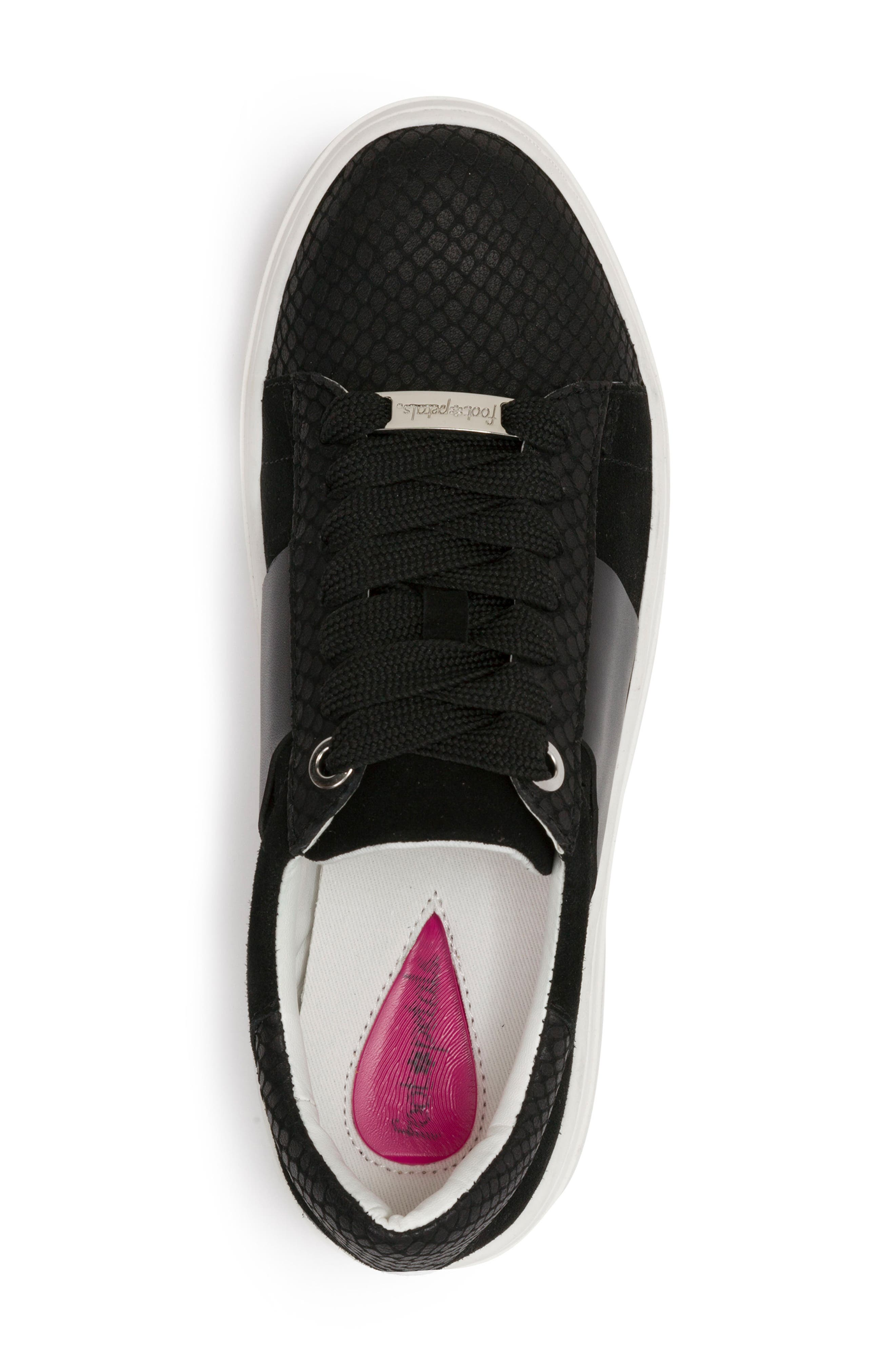 Fallon Sneaker,                             Alternate thumbnail 5, color,                             BLACK SUEDE