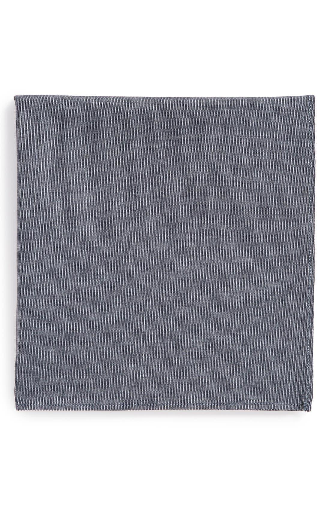 Chambray Pocket Square, Main, color, 420