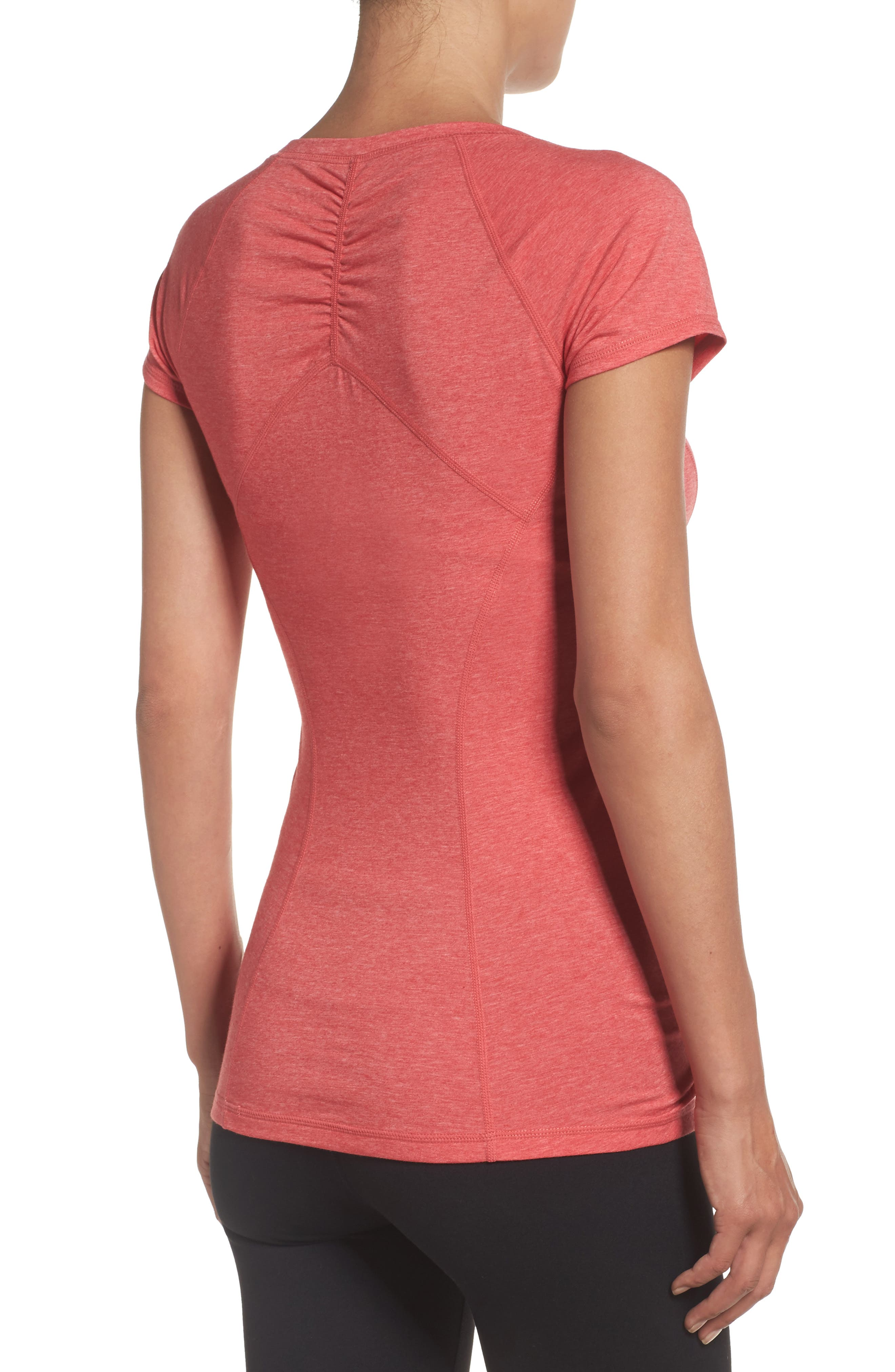 'Z 6' Ruched Tee,                             Alternate thumbnail 34, color,