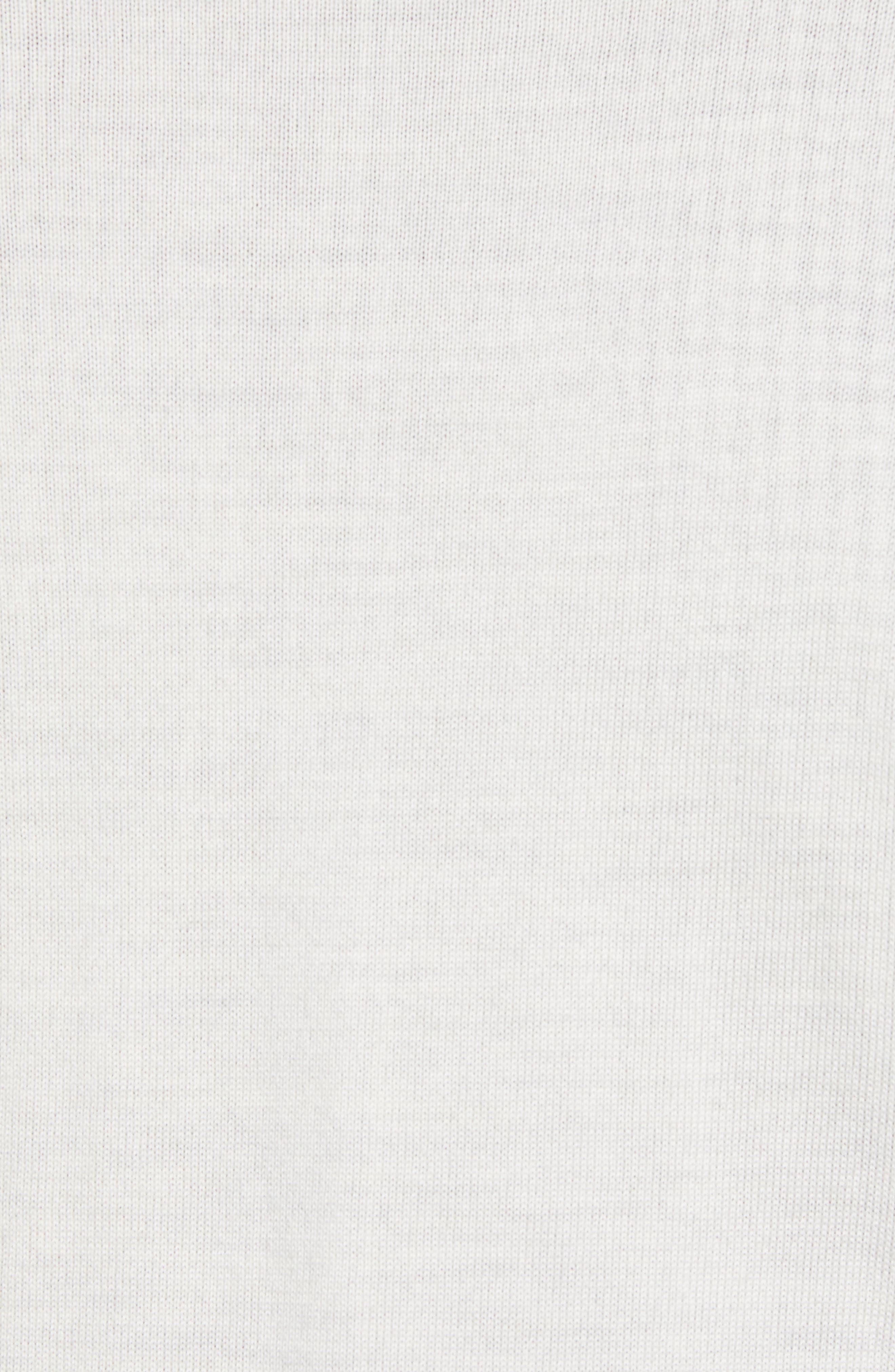 Crown Soft Regular Fit Wool Blend Quarter Zip Sweater,                             Alternate thumbnail 5, color,                             WHITE