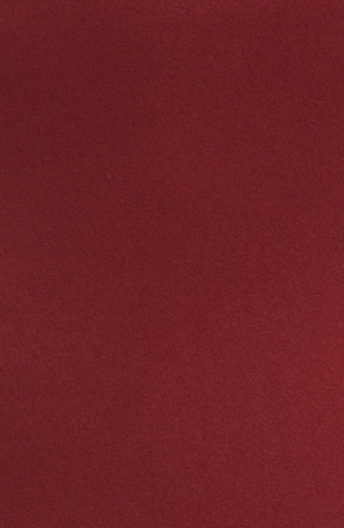 Naomi Luxe Crepe Halter Gown,                             Alternate thumbnail 6, color,                             CRANBERRY