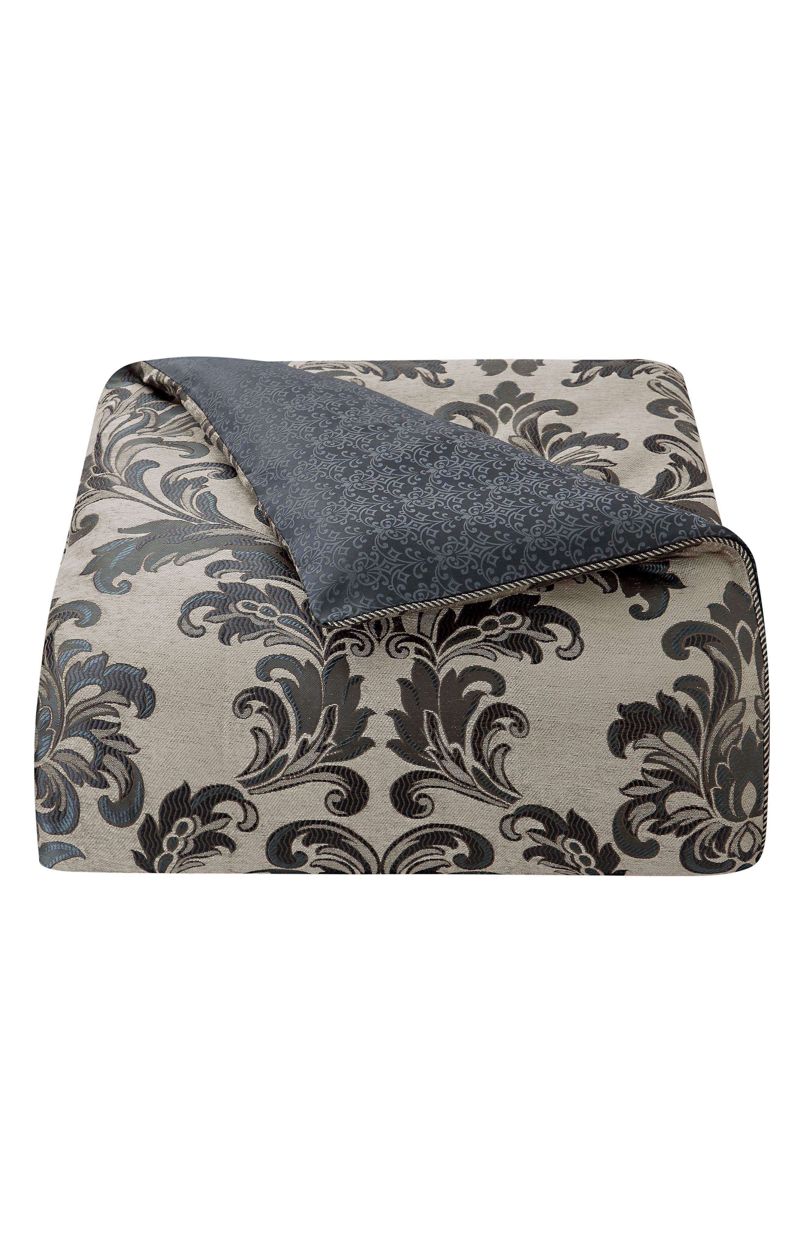 Everett Reversible Comforter, Sham & Bed Skirt Set,                             Alternate thumbnail 7, color,                             TEAL