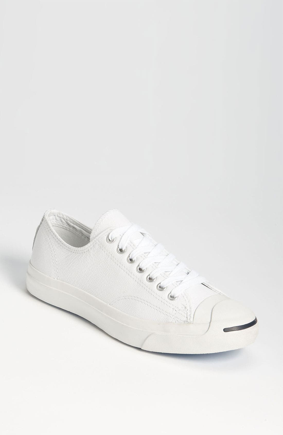 'Jack Purcell' Leather Sneaker,                             Main thumbnail 1, color,                             WLE