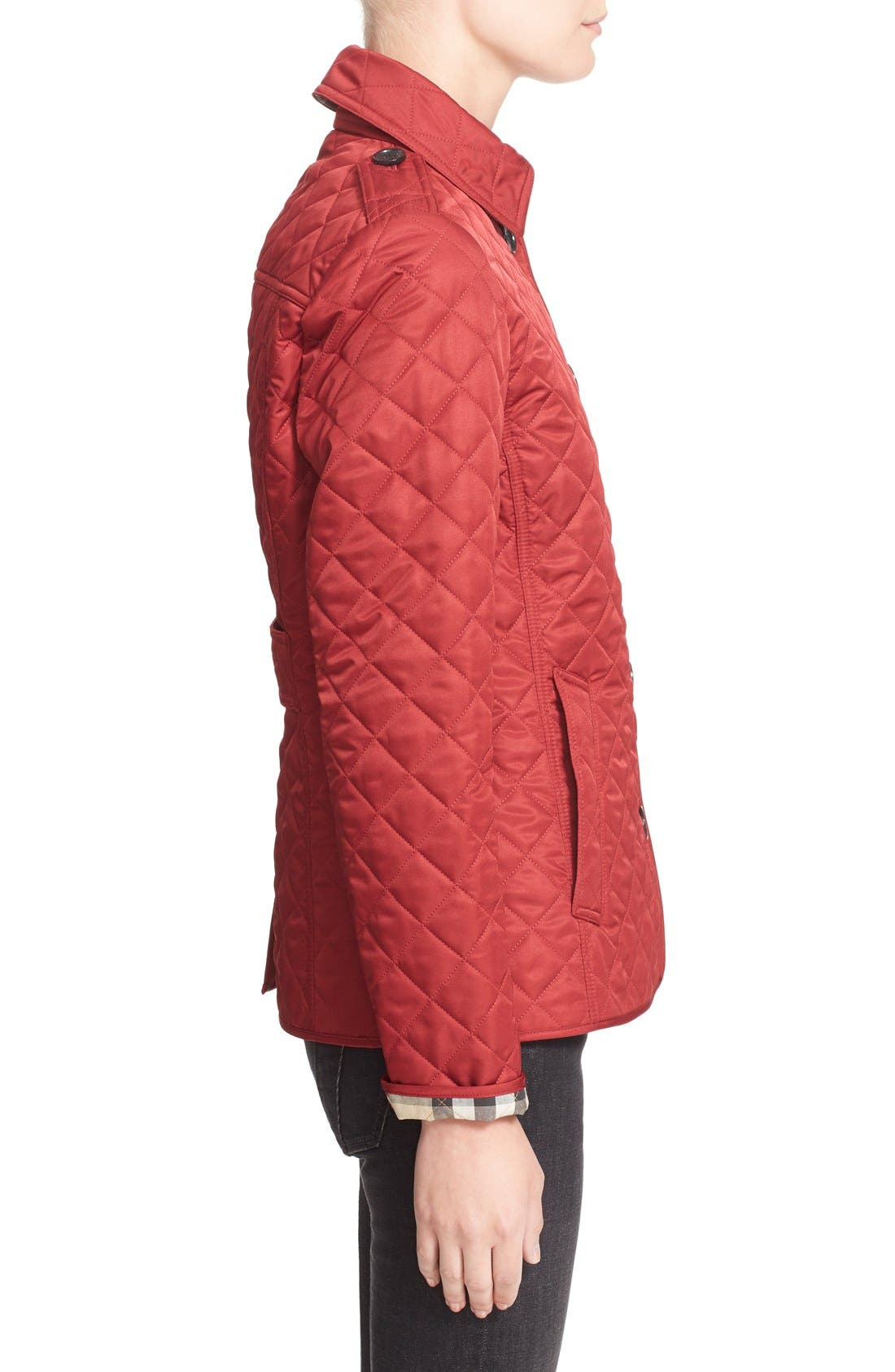 Ashurst Quilted Jacket,                             Alternate thumbnail 7, color,                             PARADE RED