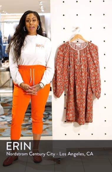 Tockya Print Linen Swing Dress, sales video thumbnail