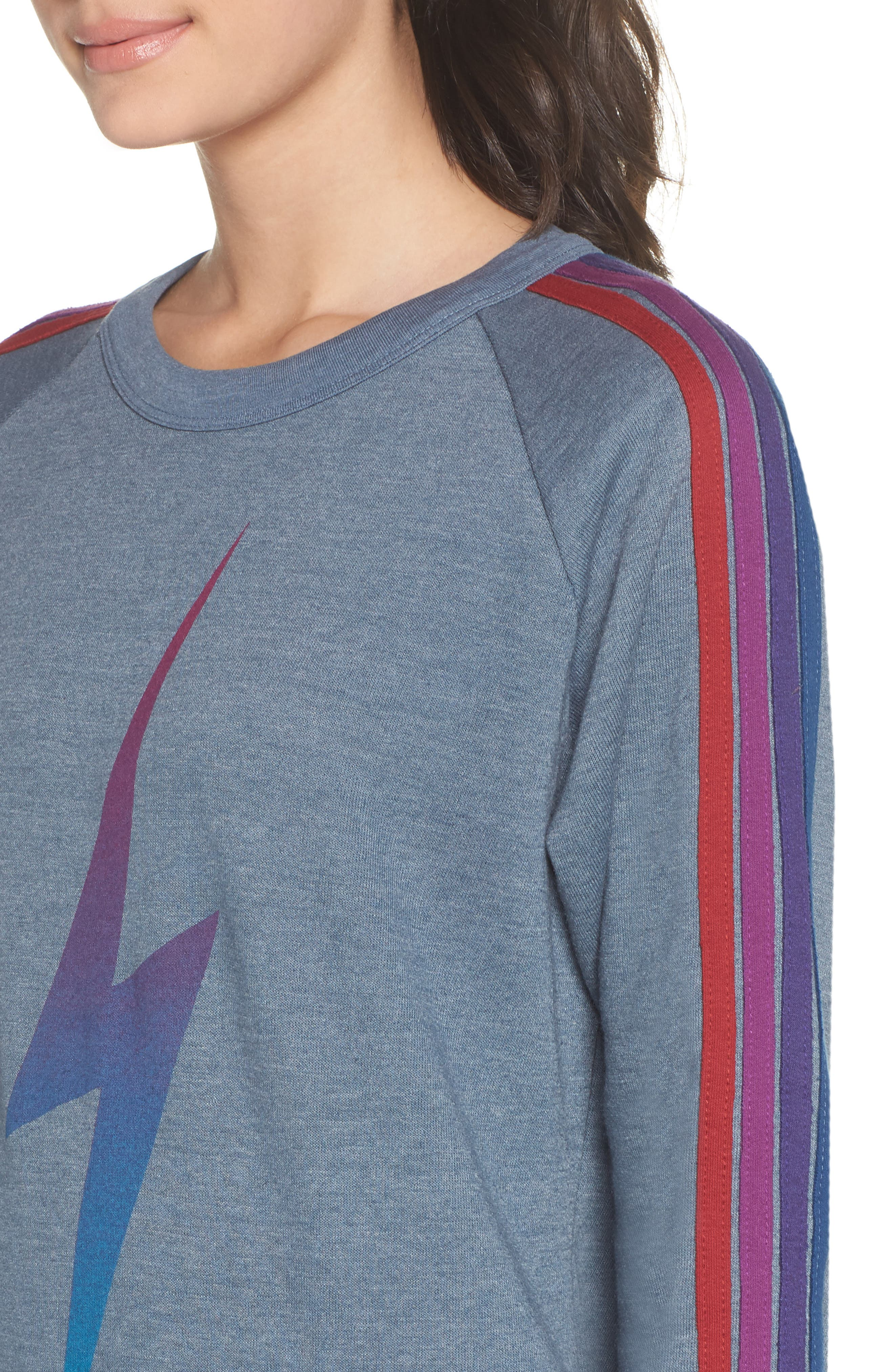 Bolt Fade Sweatshirt,                             Alternate thumbnail 4, color,                             SLATE/ PURPLE