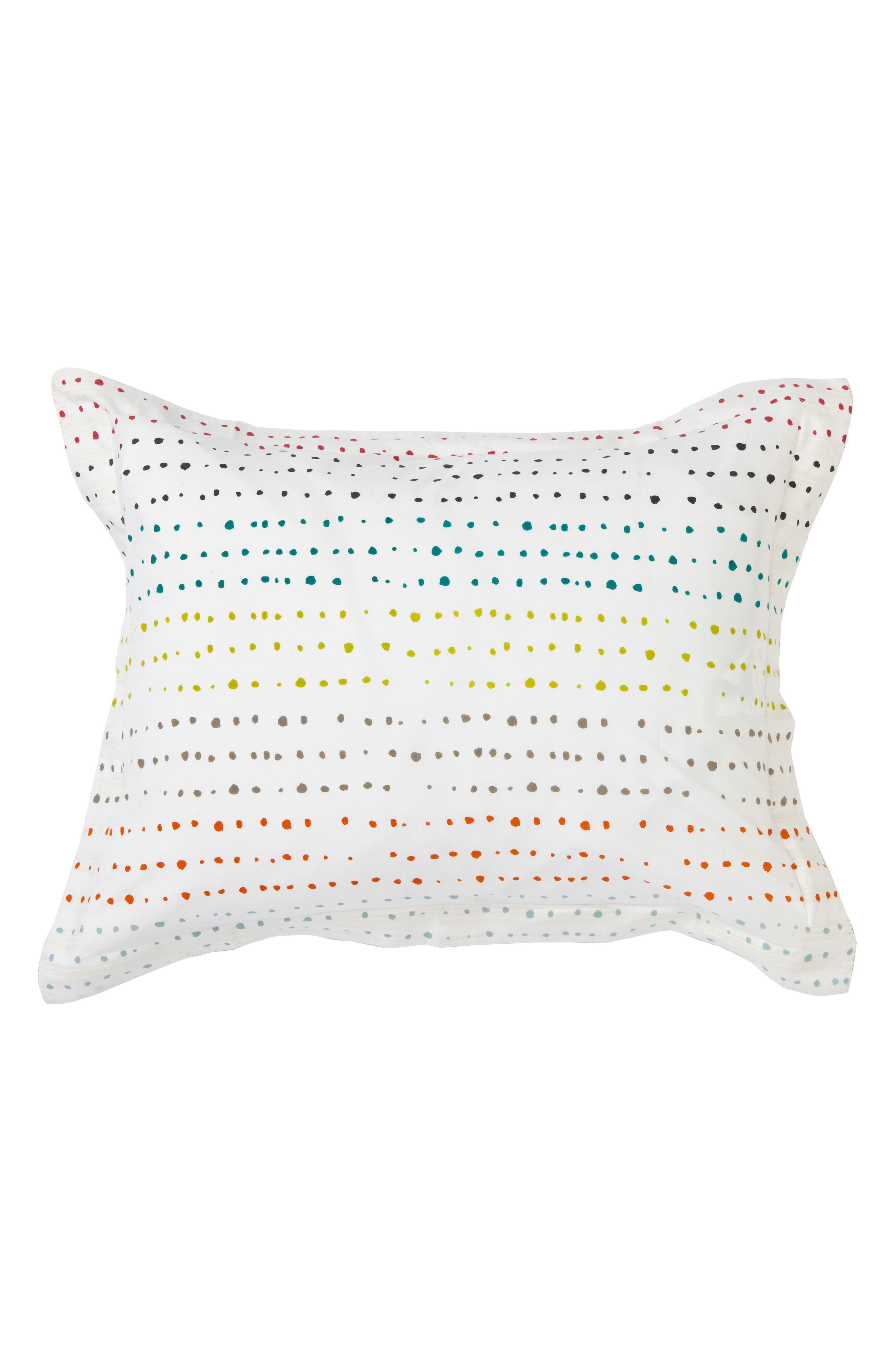 Painted Dots Reversible Sham,                         Main,                         color, 100