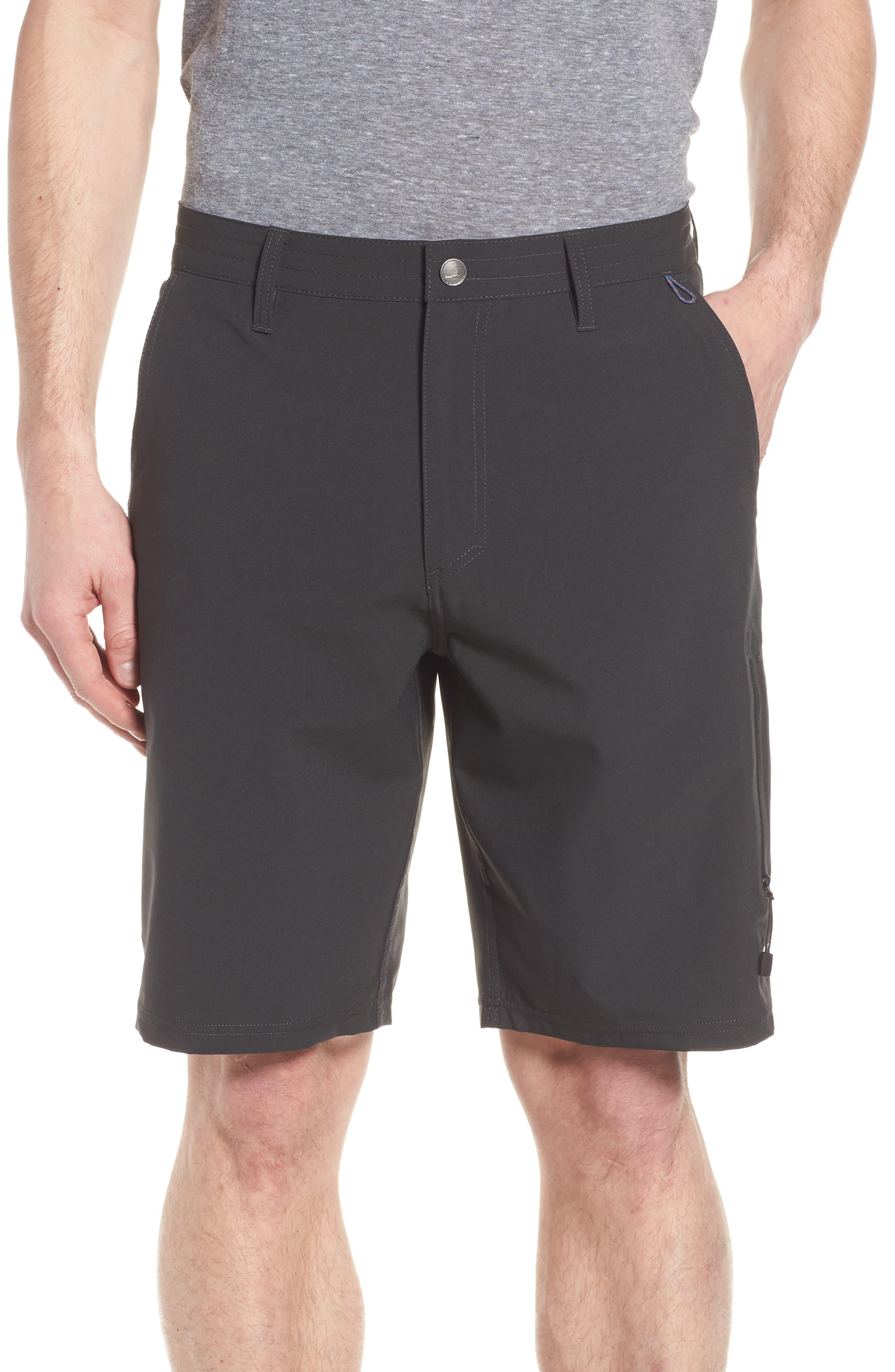 Pipeline Hybrid Shorts,                             Main thumbnail 1, color,                             BLACK