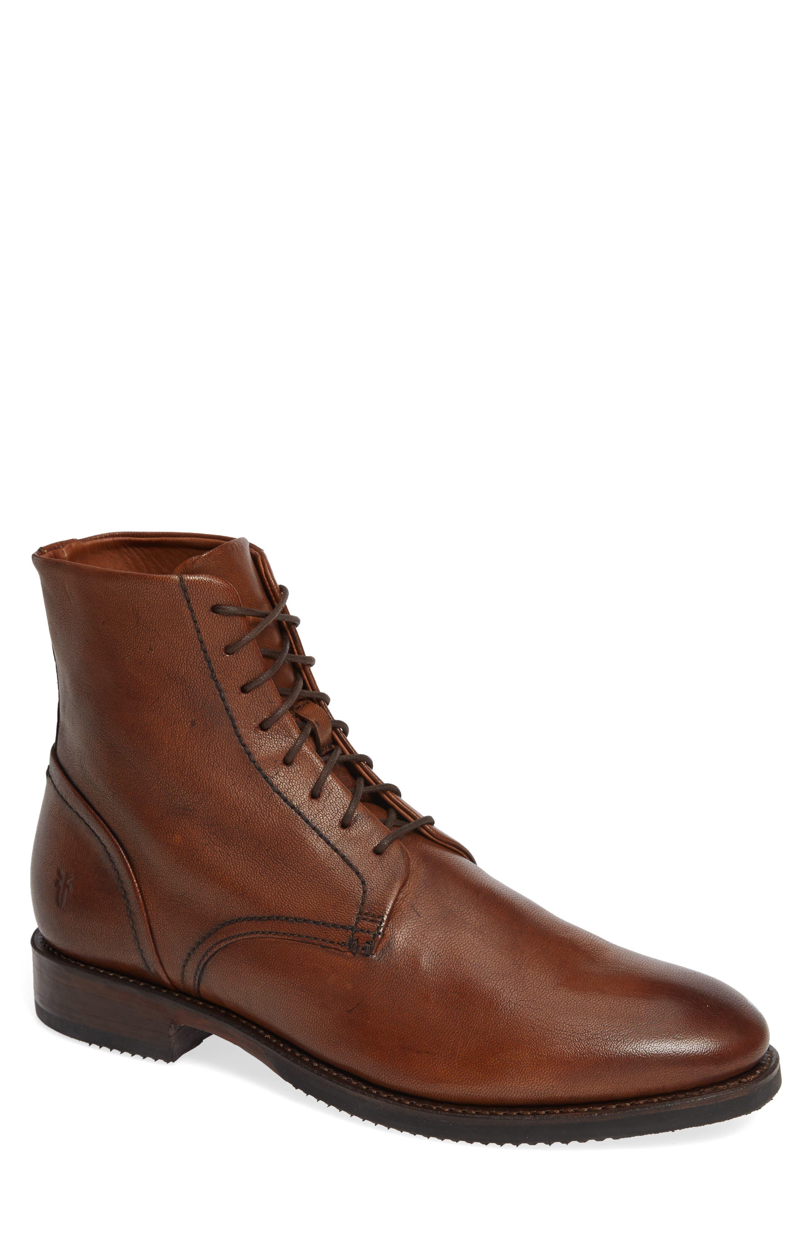 Corey Lace-Up Boot,                         Main,                         color, COGNAC