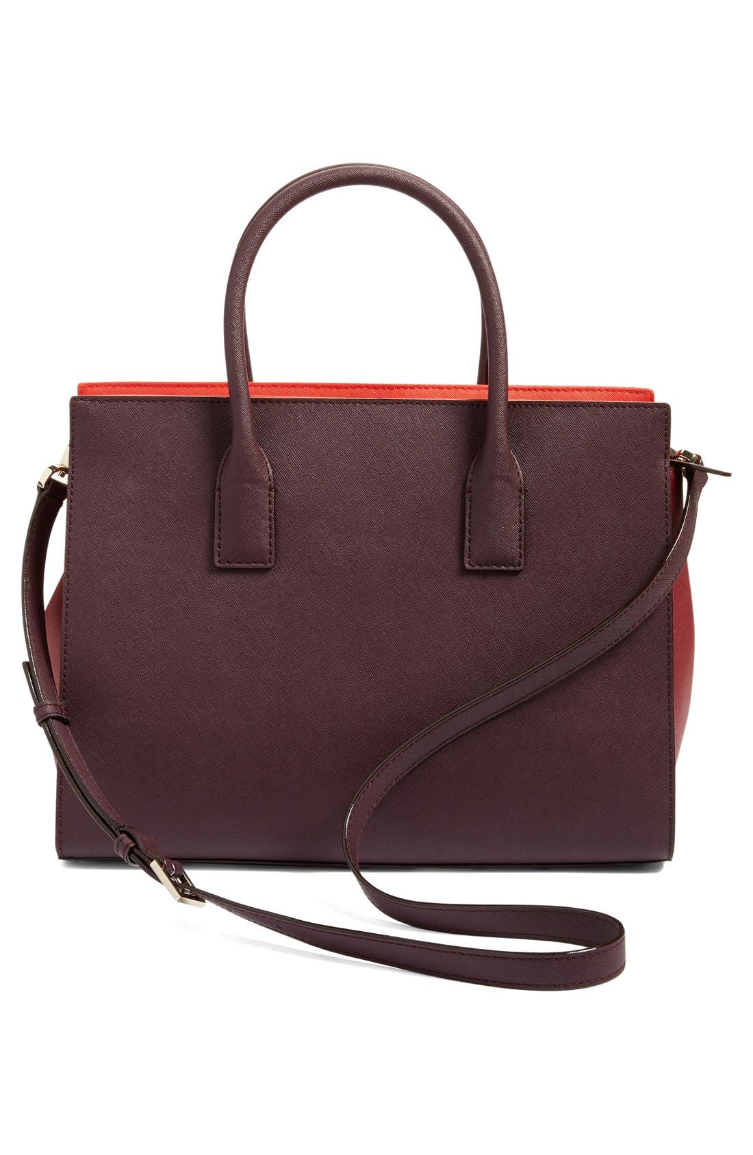 cameron street - candace leather satchel,                             Alternate thumbnail 74, color,