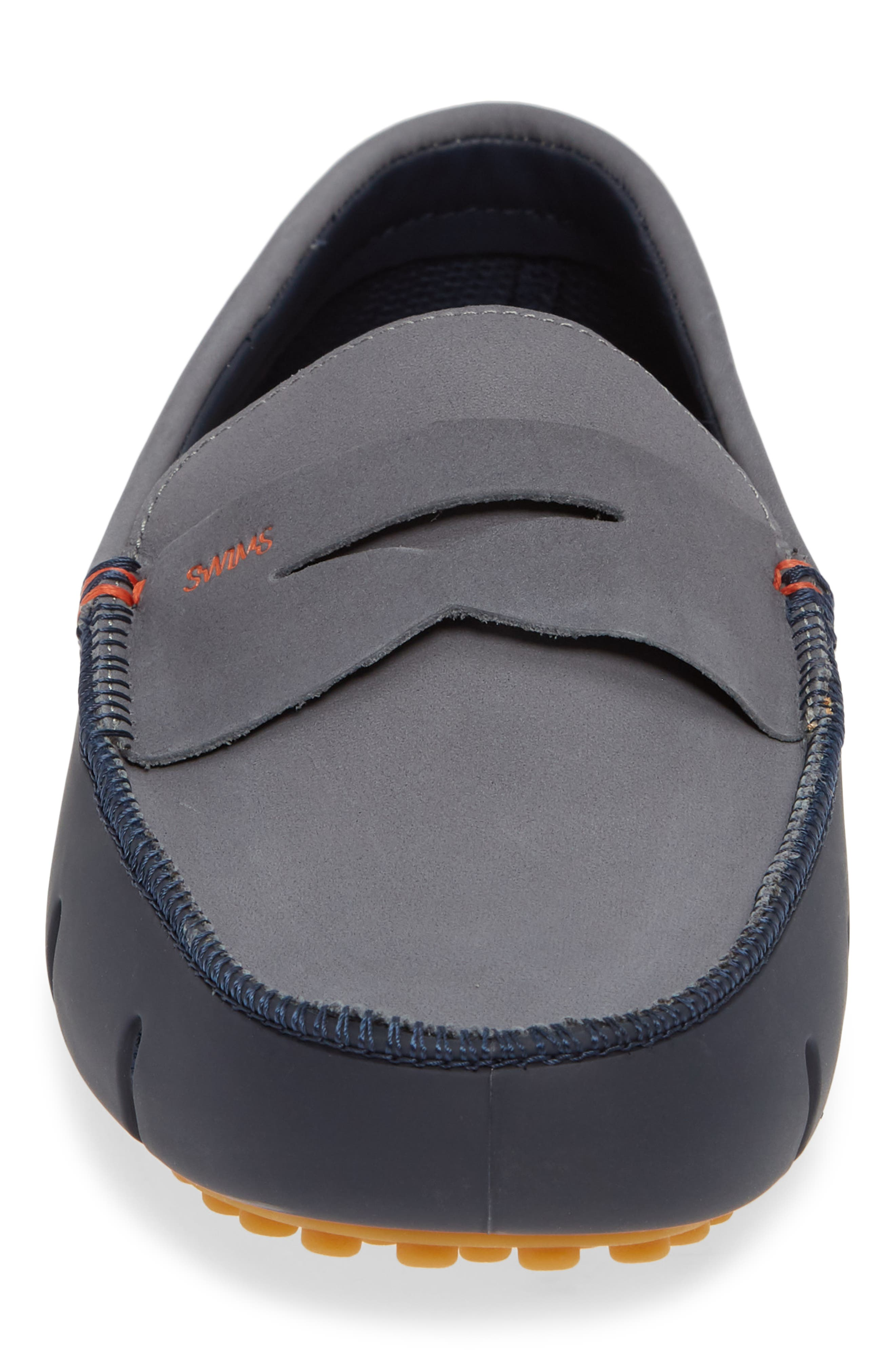 Lux Penny Loafer,                             Alternate thumbnail 4, color,                             NAVY/ GRAY/ GUM