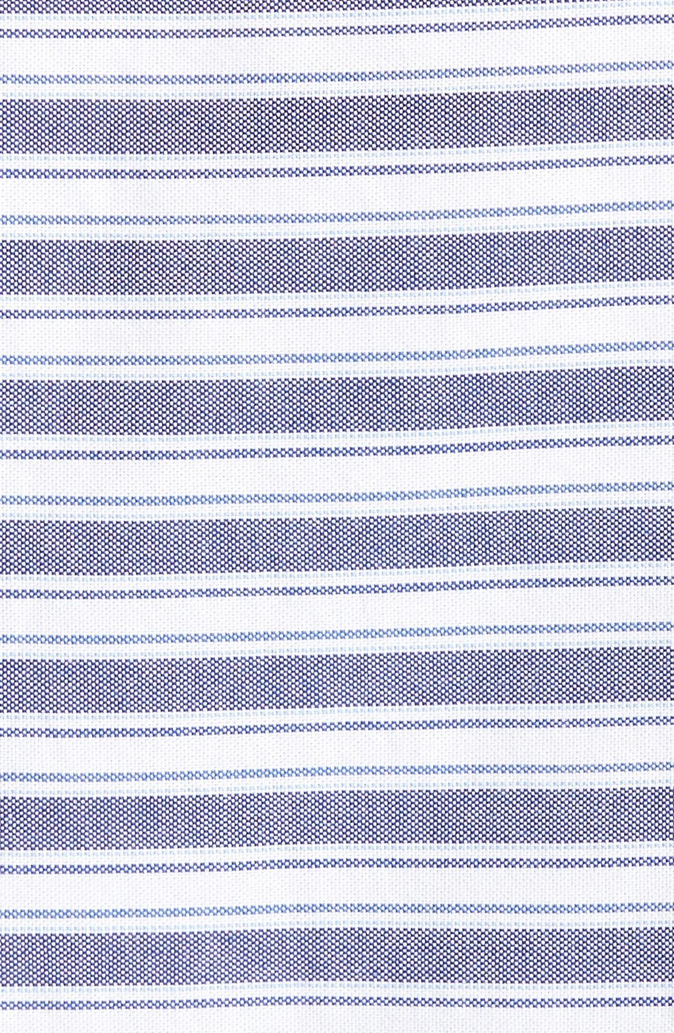 Trim Fit Stripe Round Pocket Sport Shirt,                             Alternate thumbnail 5, color,                             420