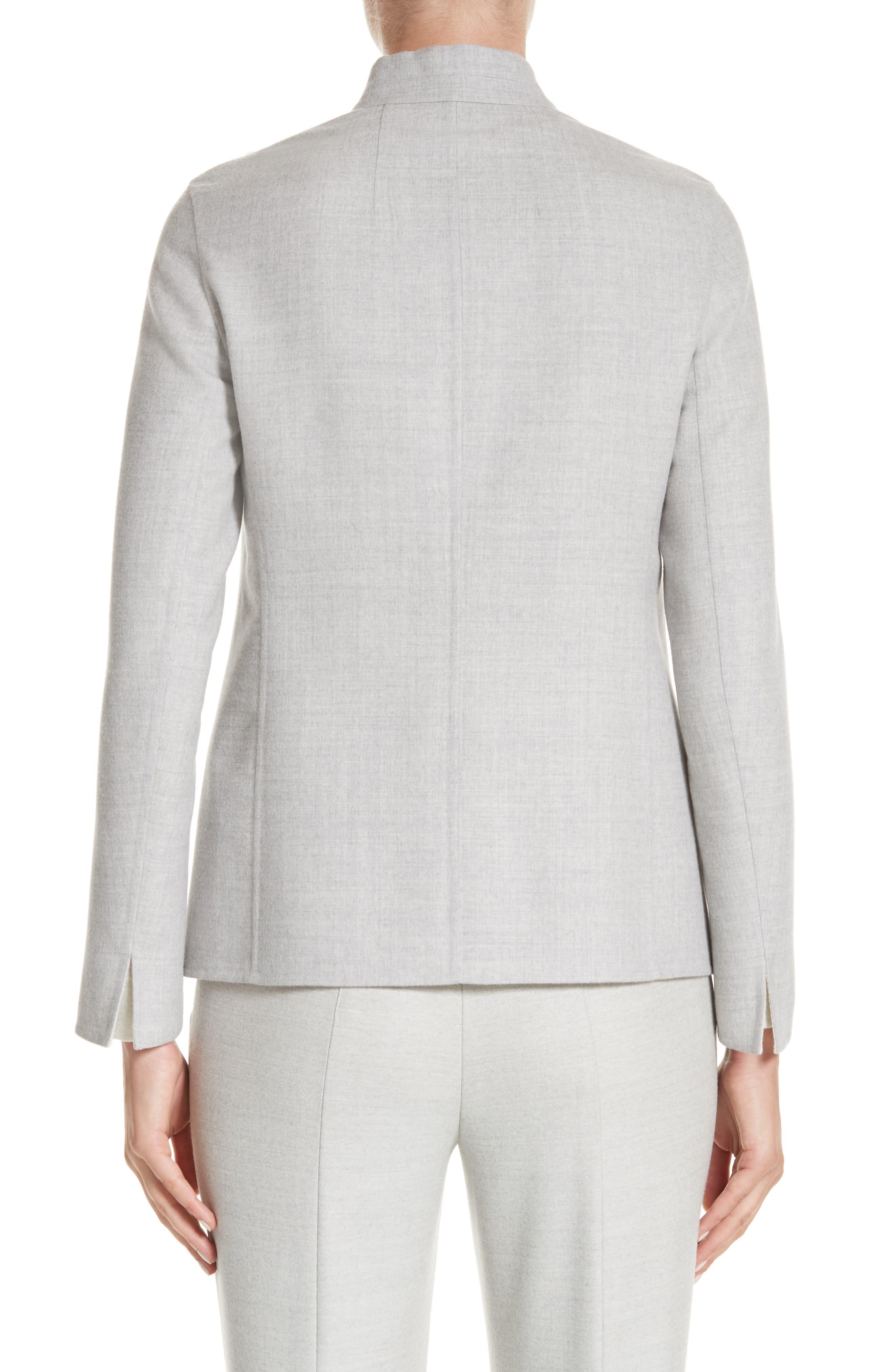 Stretch Wool & Silk Bicolor Reversible Jacket,                             Alternate thumbnail 2, color,                             020