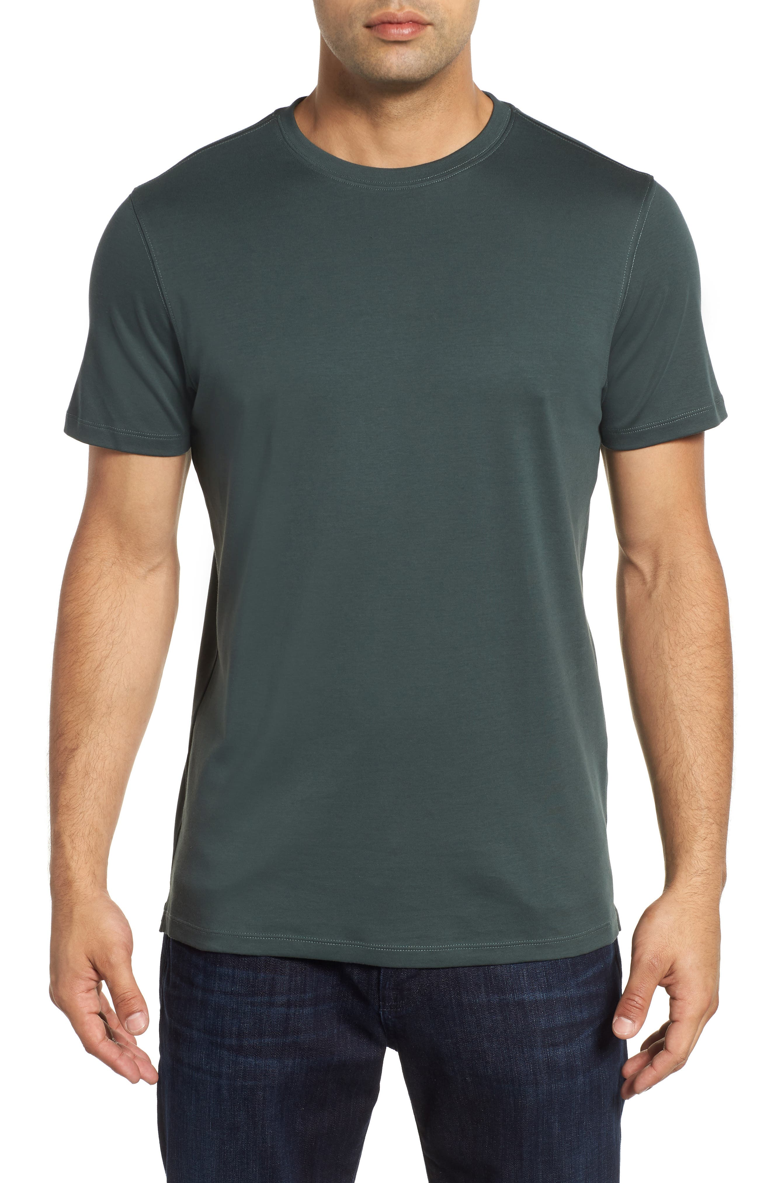 'Georgia' Crewneck T-Shirt,                             Main thumbnail 1, color,                             PINE