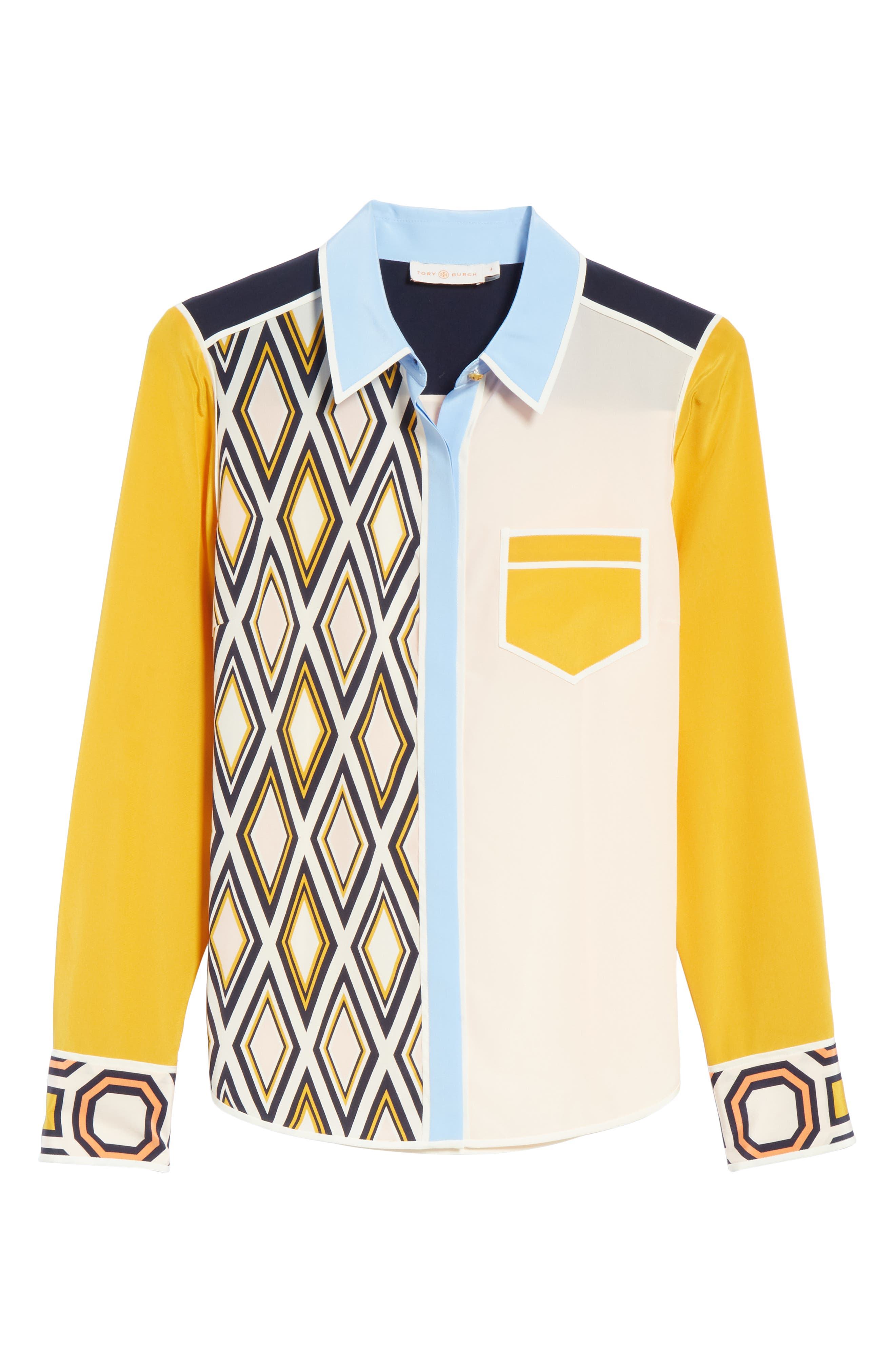 Jackie Silk Shirt,                             Alternate thumbnail 11, color,