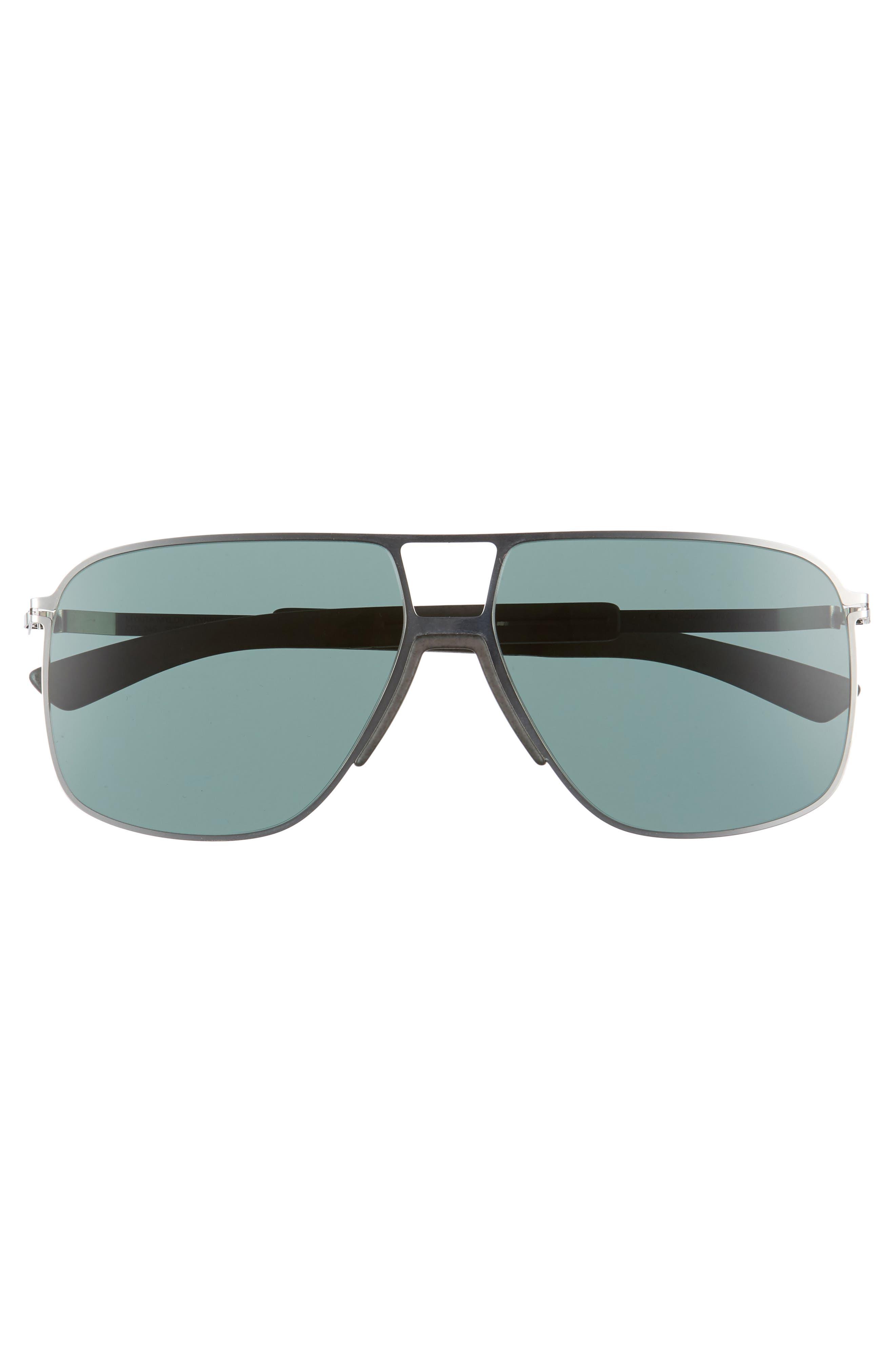 Oak 61mm Aviator Sunglasses,                             Alternate thumbnail 4, color,