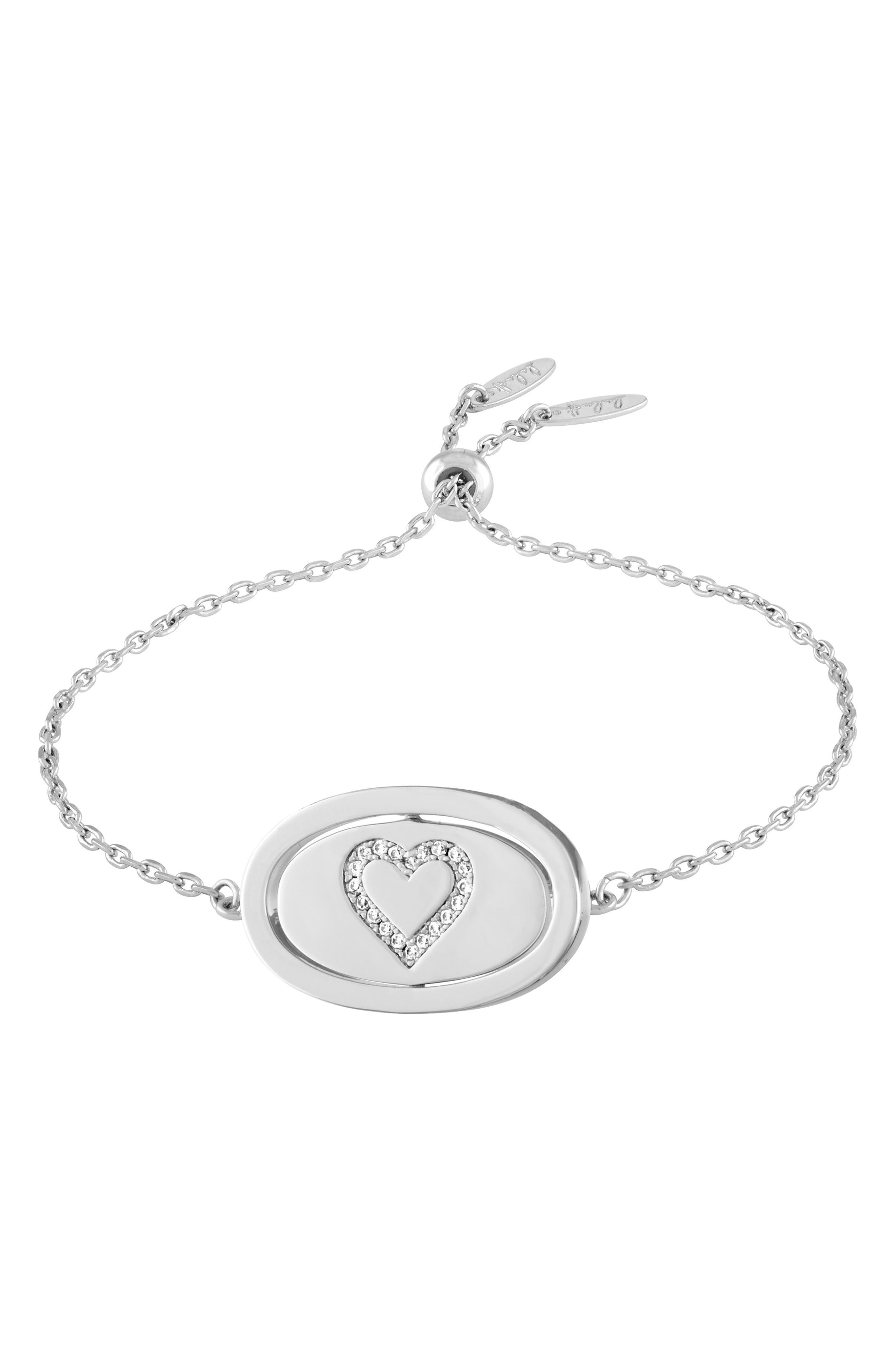 Love Letters Spinning Pendant Bracelet,                             Alternate thumbnail 5, color,                             041