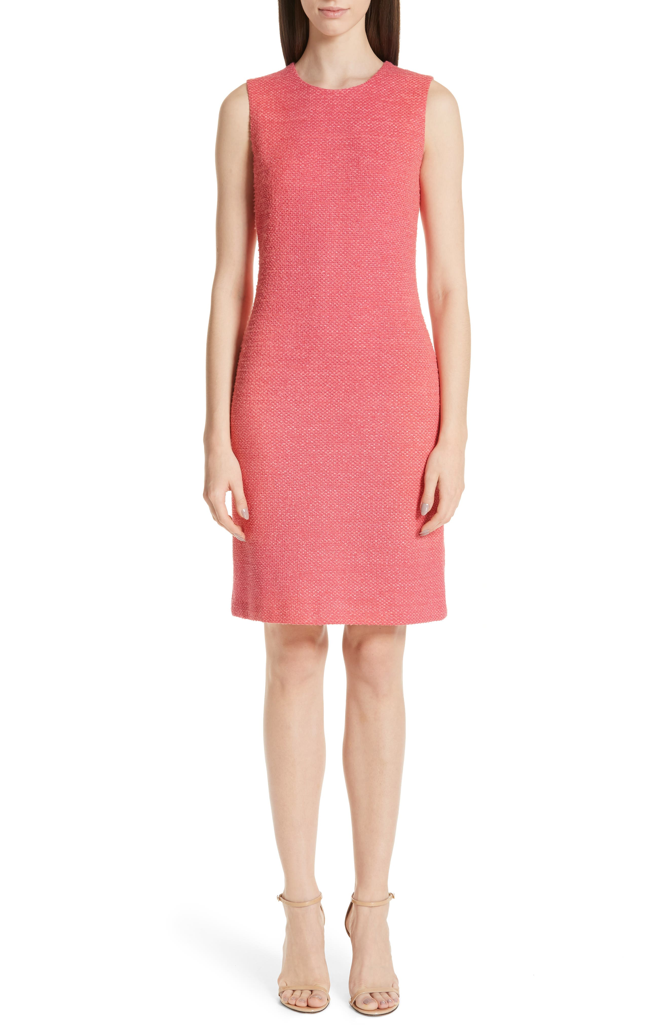 St. John Collection Beti Knit Dress, Coral