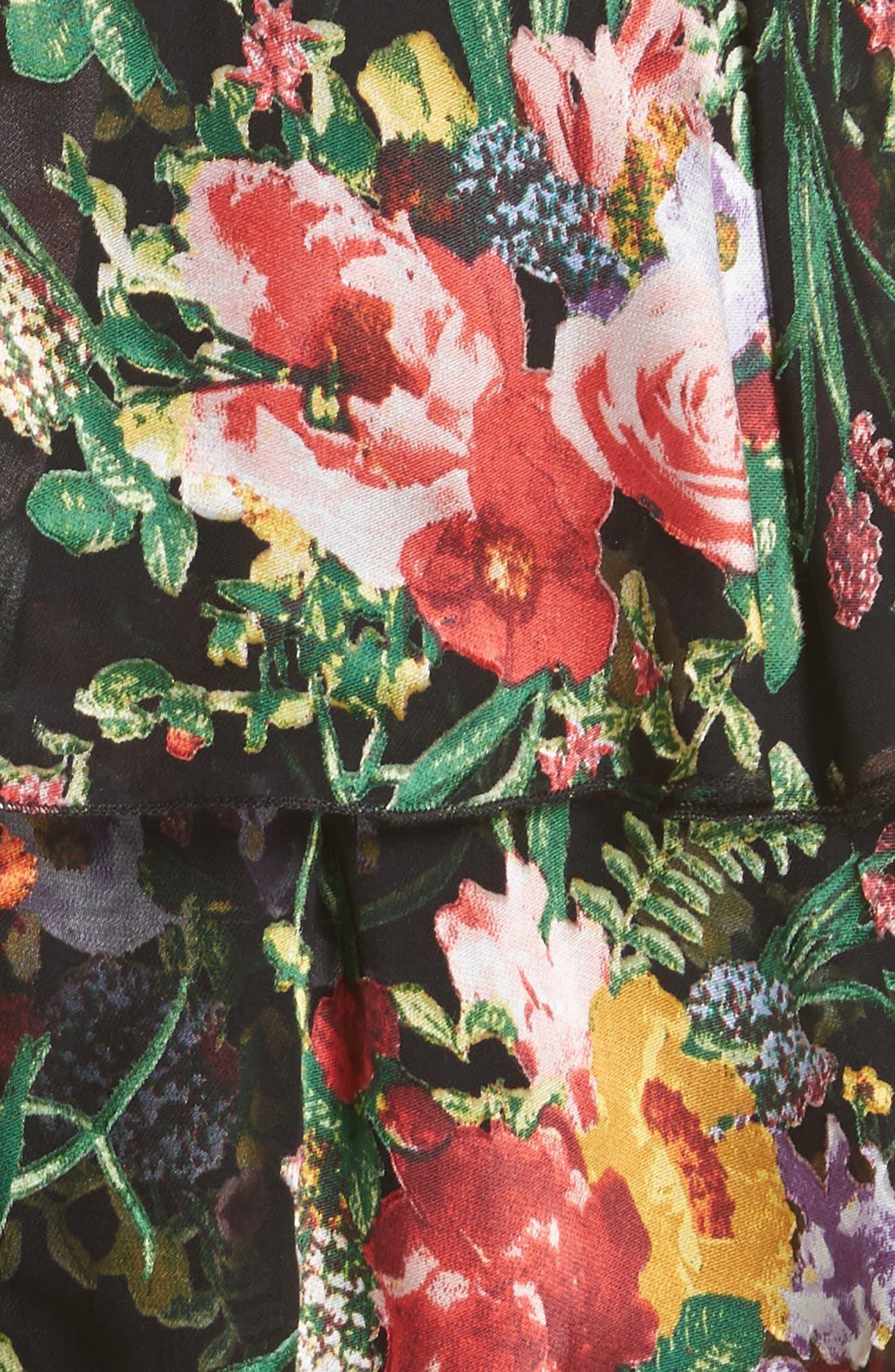 Florentina Off the Shoulder Dress,                             Alternate thumbnail 5, color,                             001