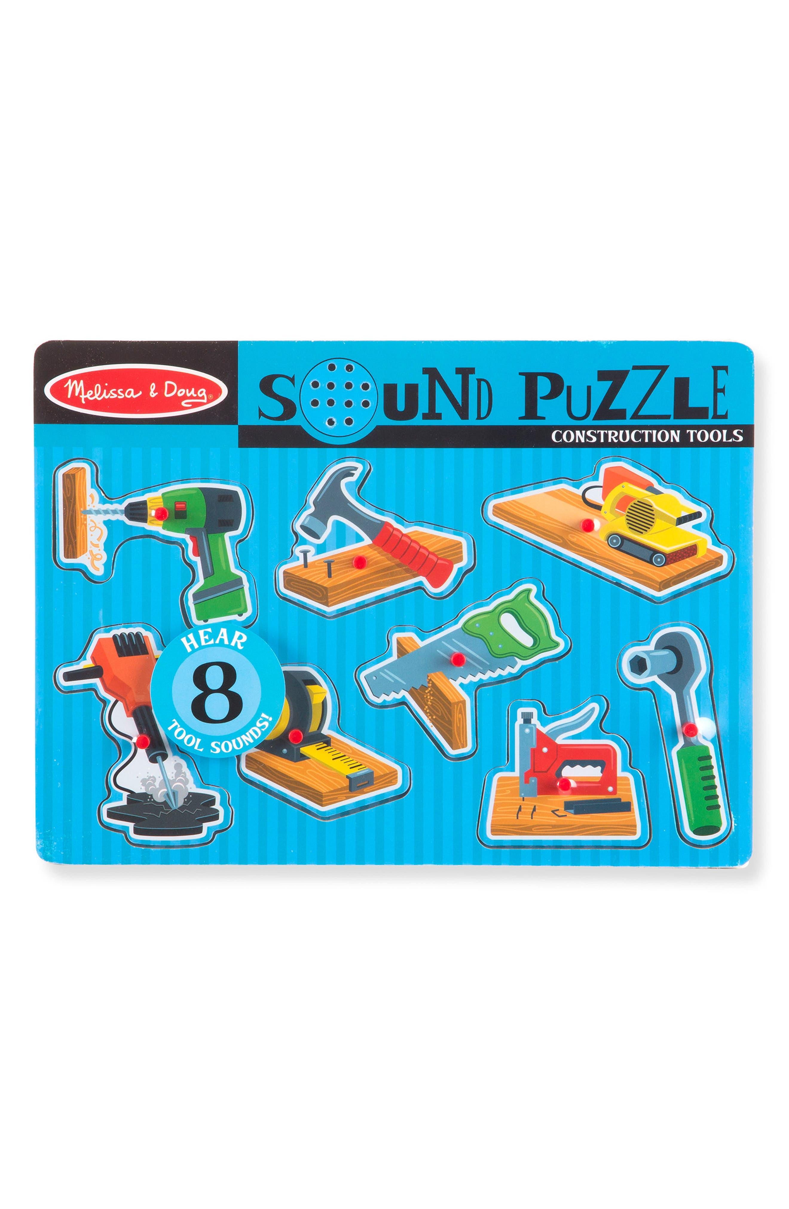 MELISSA & DOUG Construction Tools Sound Puzzle, Main, color, 400
