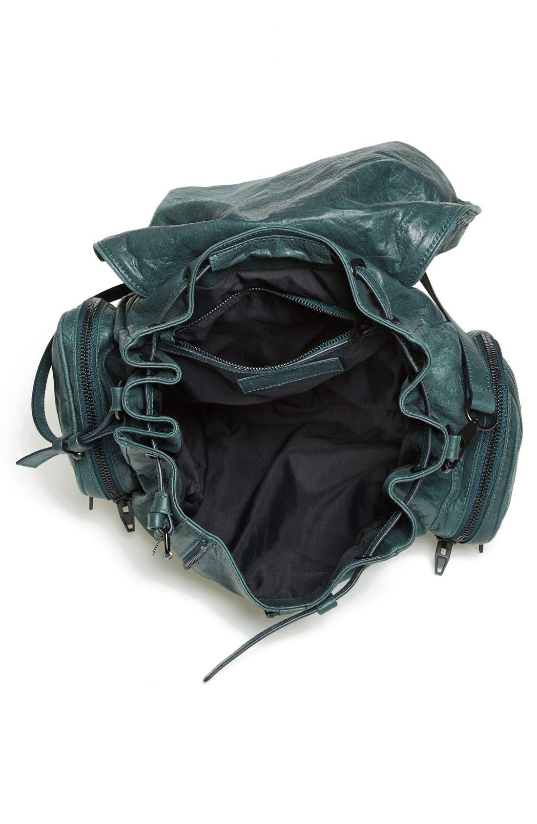 'Marti - Rose Gold' Leather Backpack,                             Alternate thumbnail 4, color,