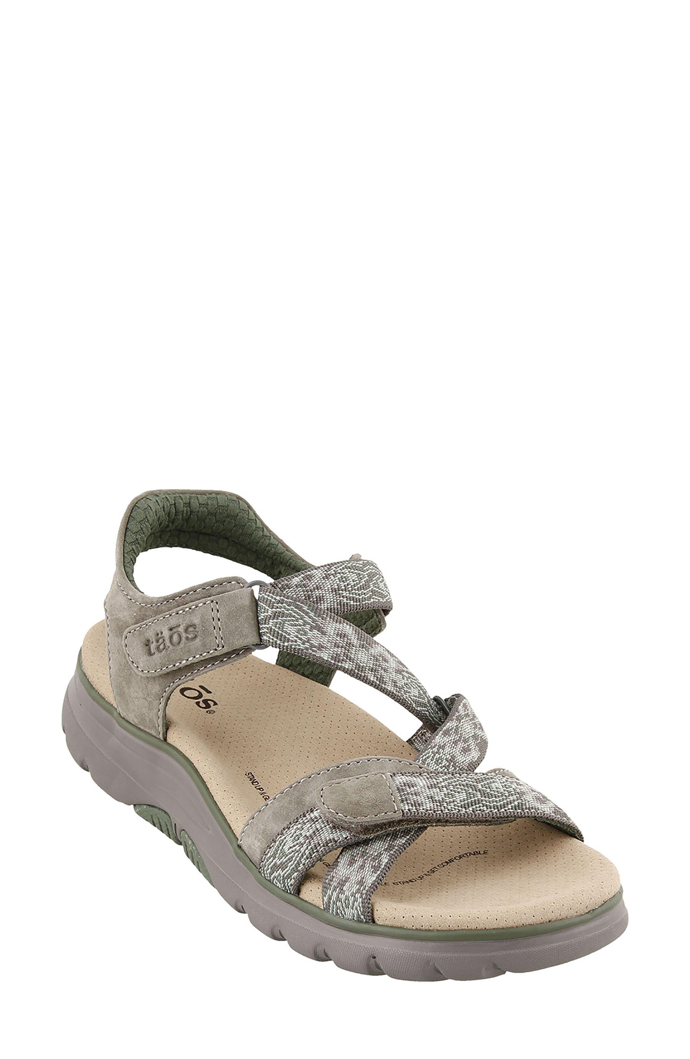 Zen Sandal,                         Main,                         color, GREY/ SAGE LEATHER