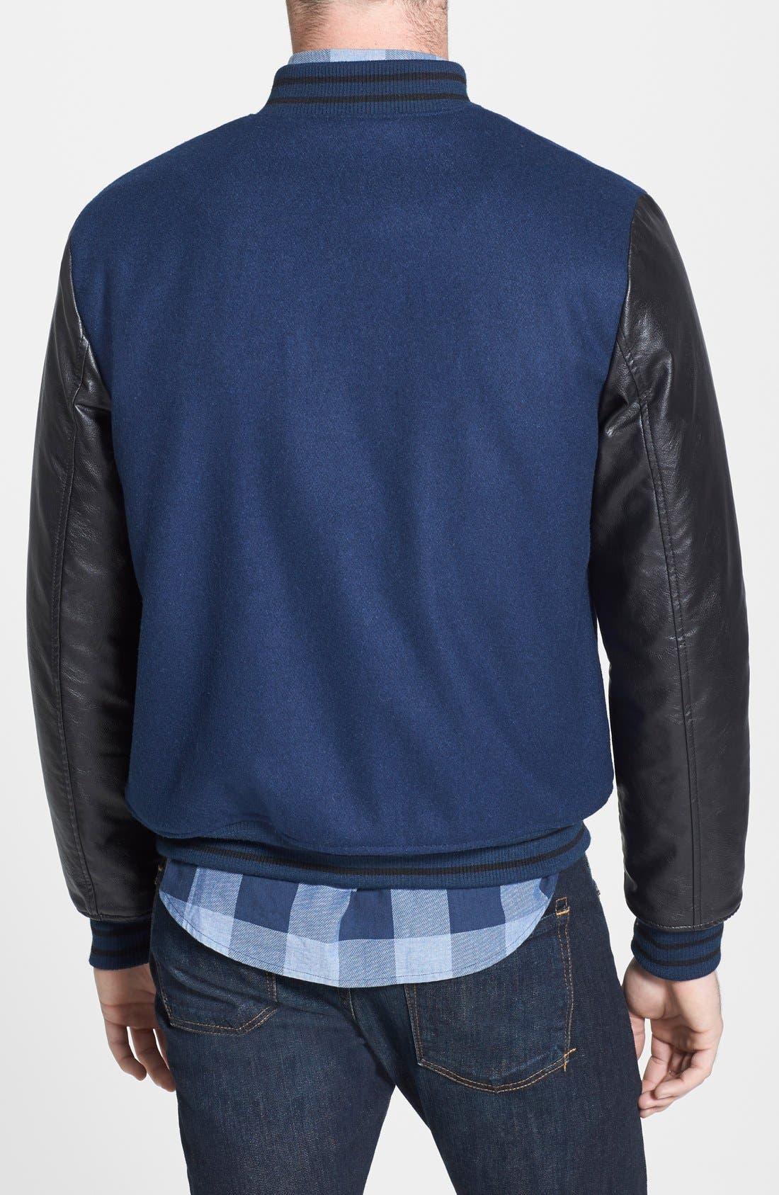 ORIGINAL PENGUIN,                             Vintage Varsity Jacket,                             Alternate thumbnail 3, color,                             411