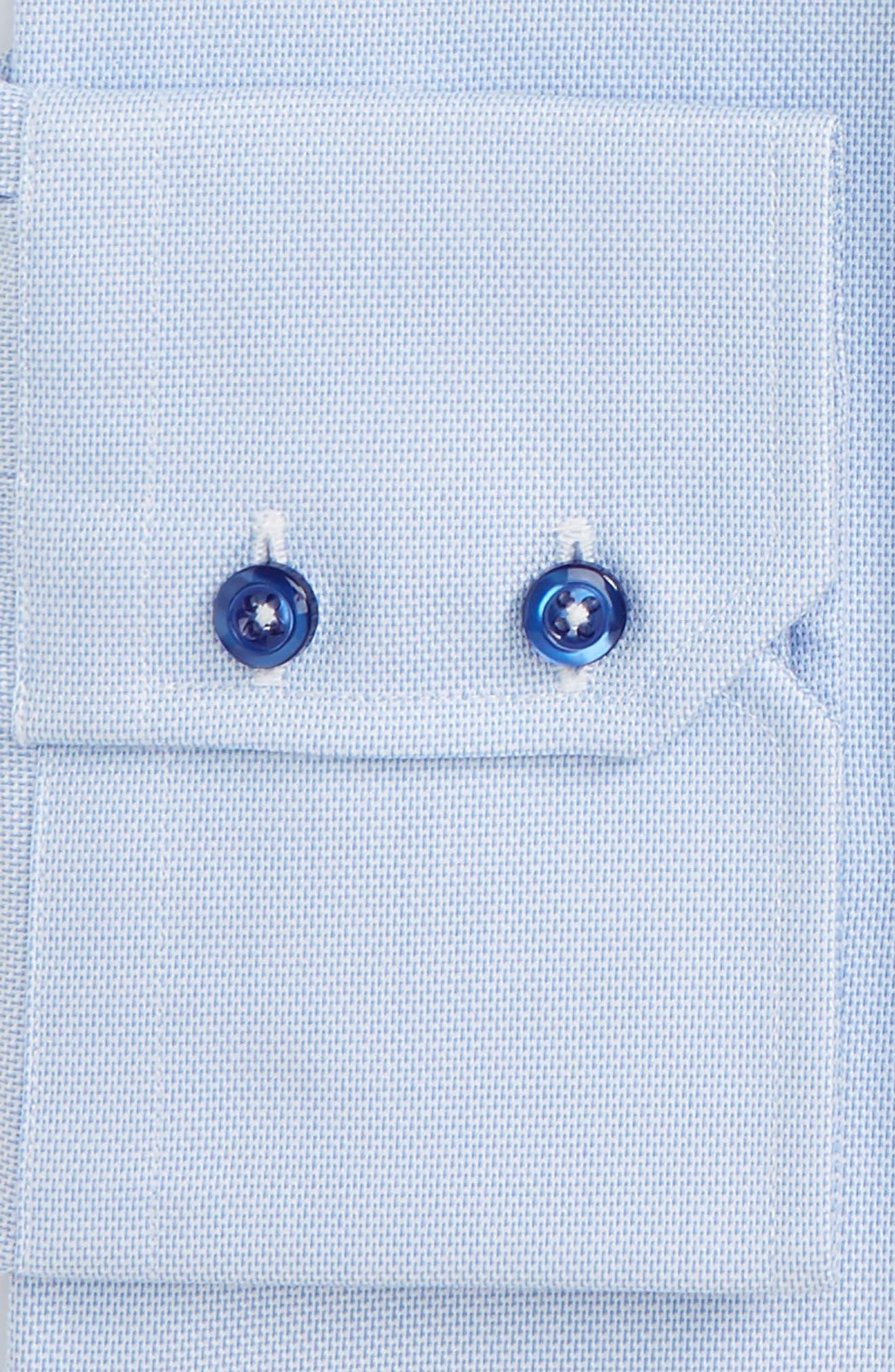 Trim Fit Solid Dress Shirt,                             Alternate thumbnail 2, color,                             SKY