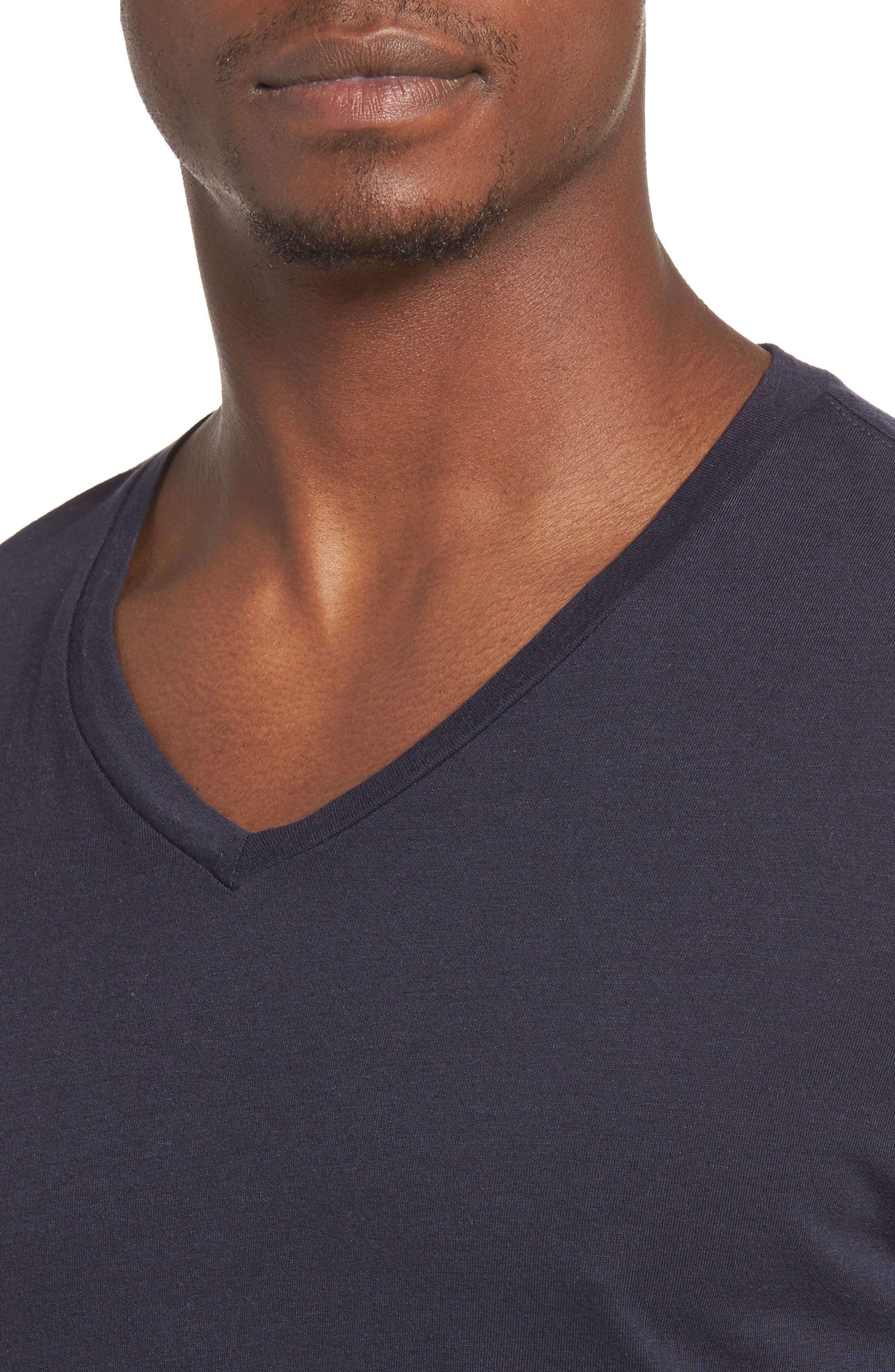 Essential V-Neck T-Shirt,                             Alternate thumbnail 37, color,