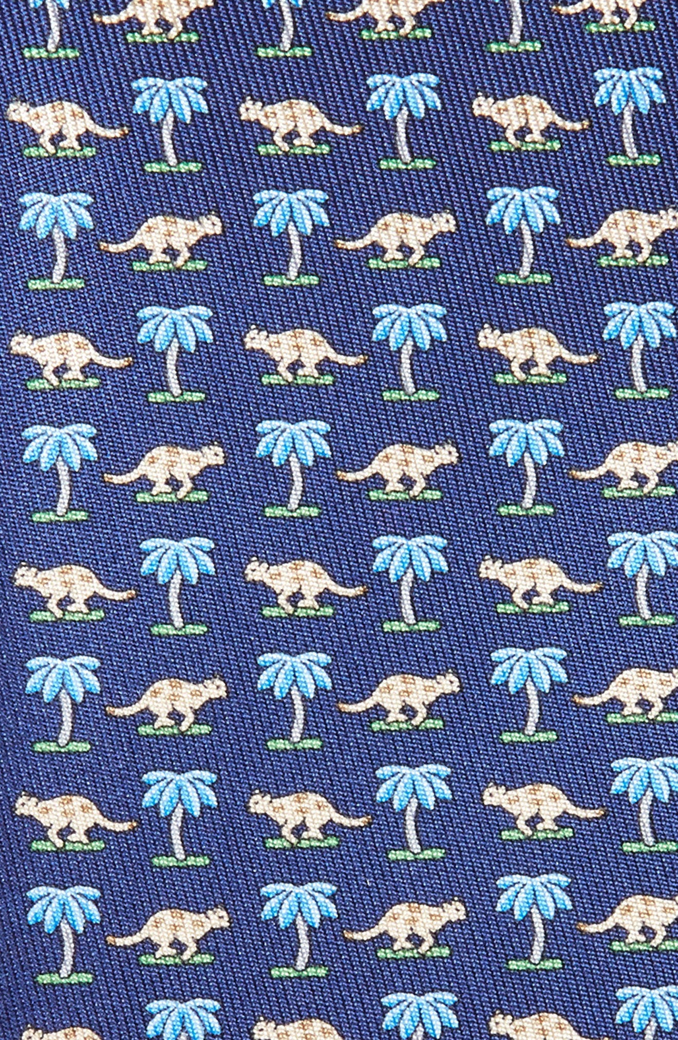 Dinosaur Print Silk Tie,                             Alternate thumbnail 2, color,                             492