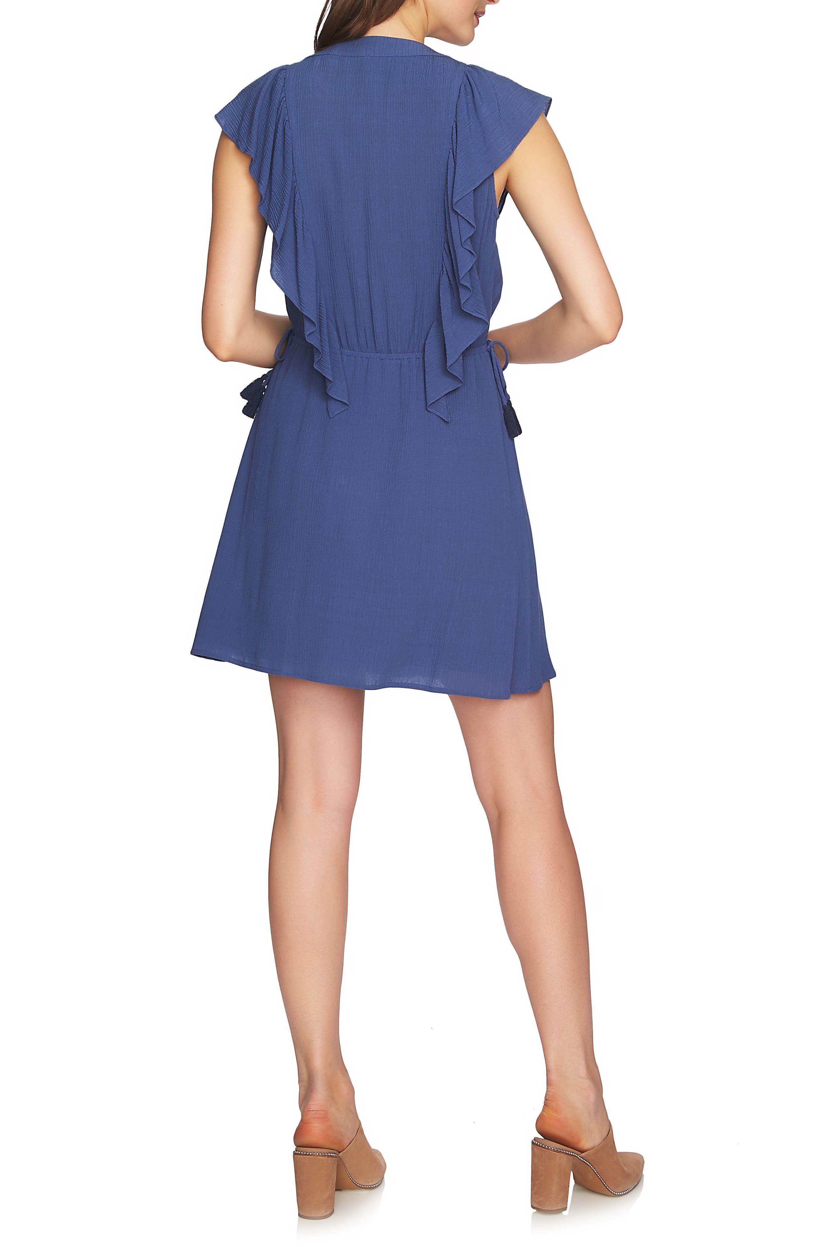 V-Neck Ruffle Edge Dress,                             Alternate thumbnail 2, color,                             577