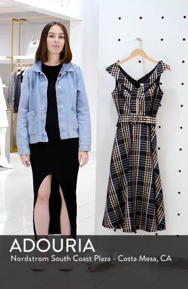 Belted Plaid Midi Dress, sales video thumbnail