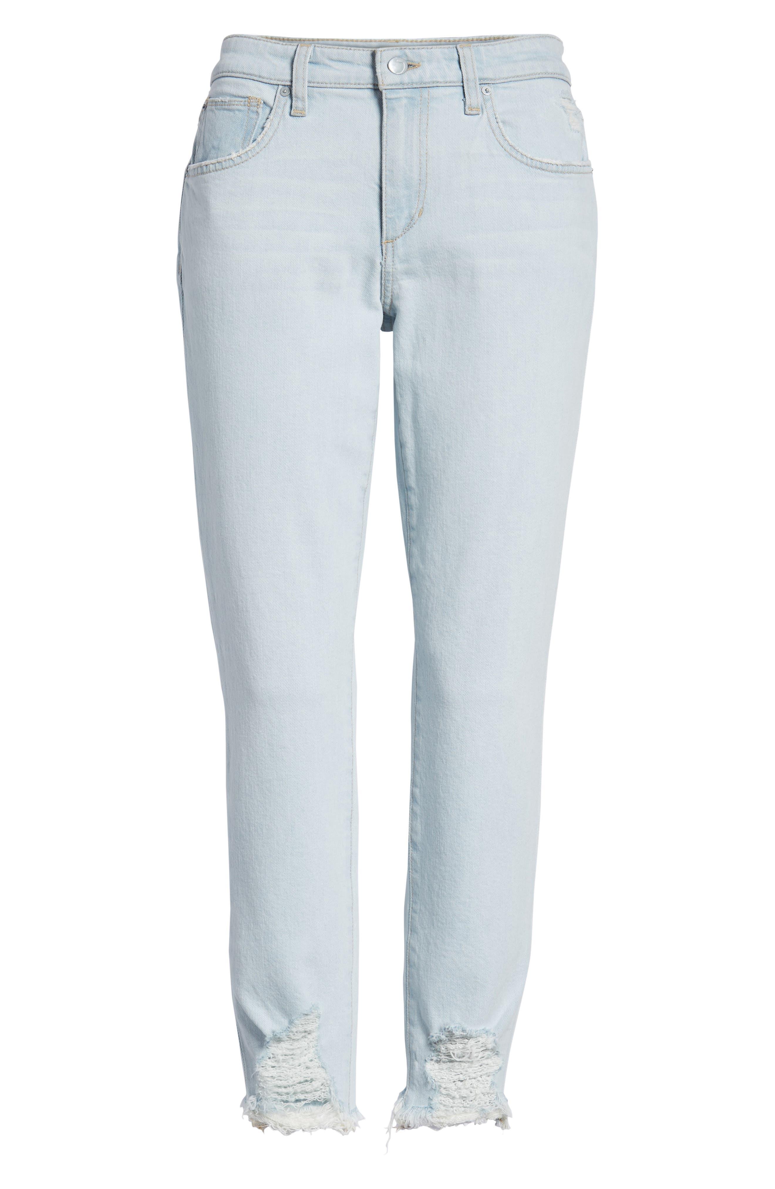 Smith Crop Boyfriend Jeans,                             Alternate thumbnail 7, color,                             450