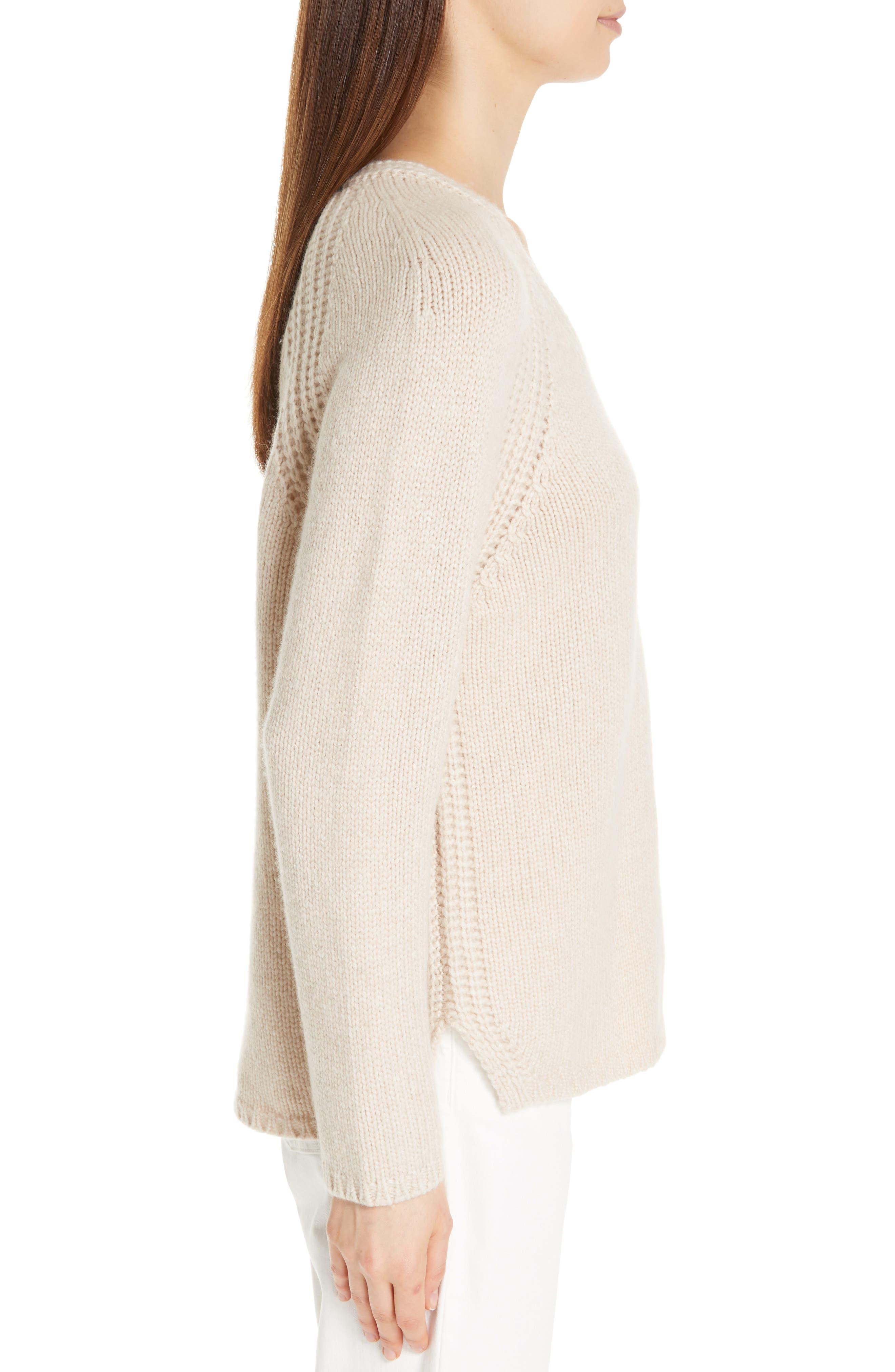 V-Neck Cashmere Sweater,                             Alternate thumbnail 3, color,                             264
