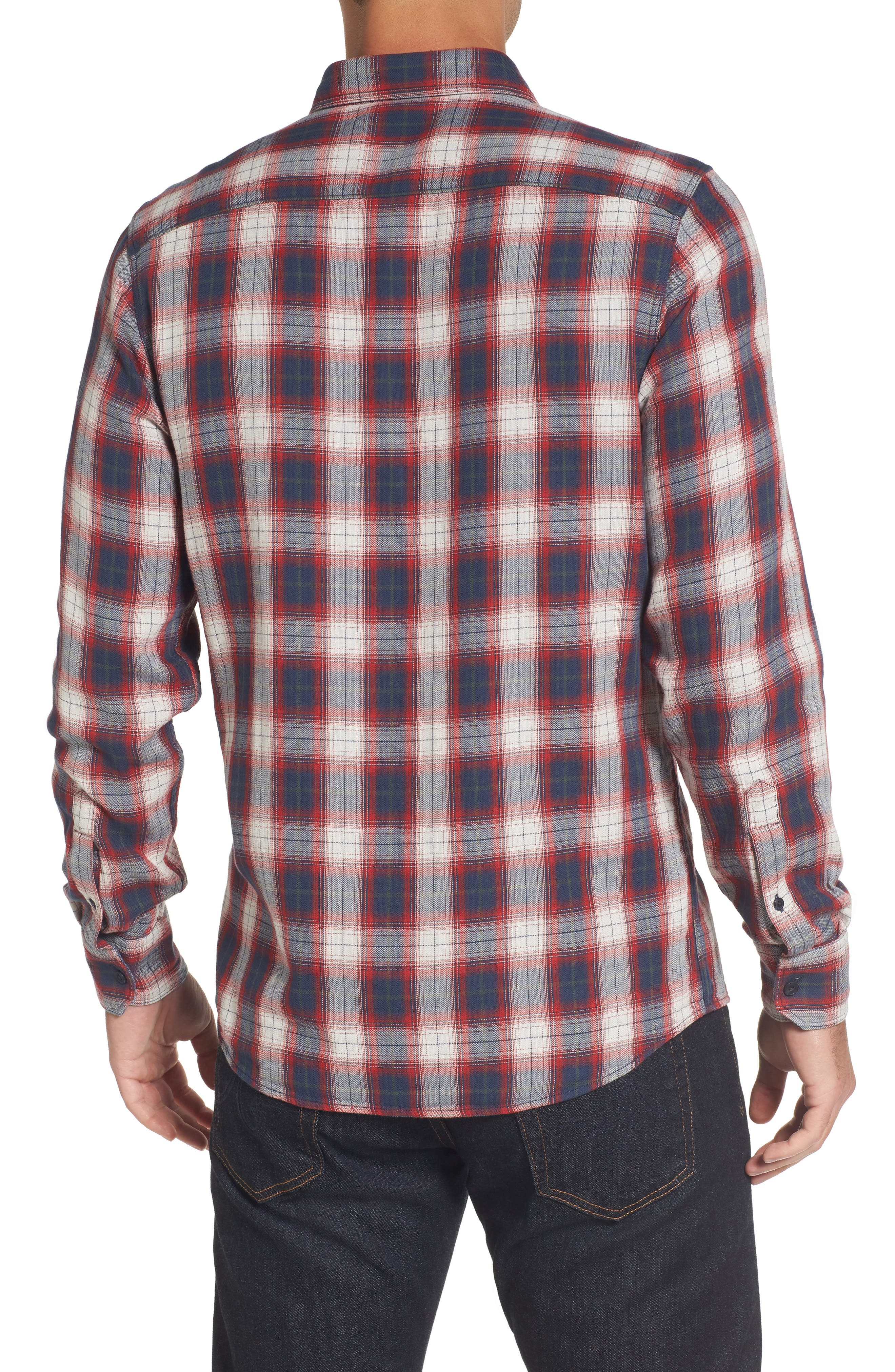 Trim Fit Lumber Duofold Sport Shirt,                             Alternate thumbnail 2, color,