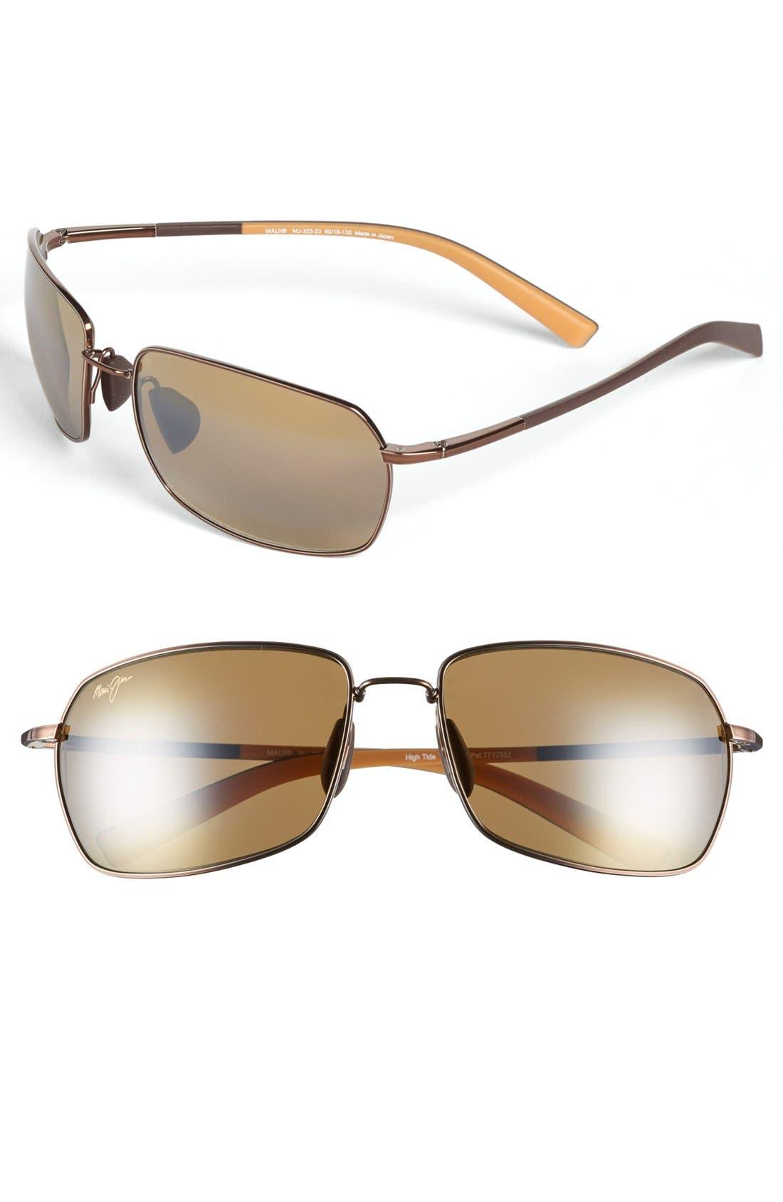 'High Tide' 60mm Sunglasses,                             Main thumbnail 1, color,                             200