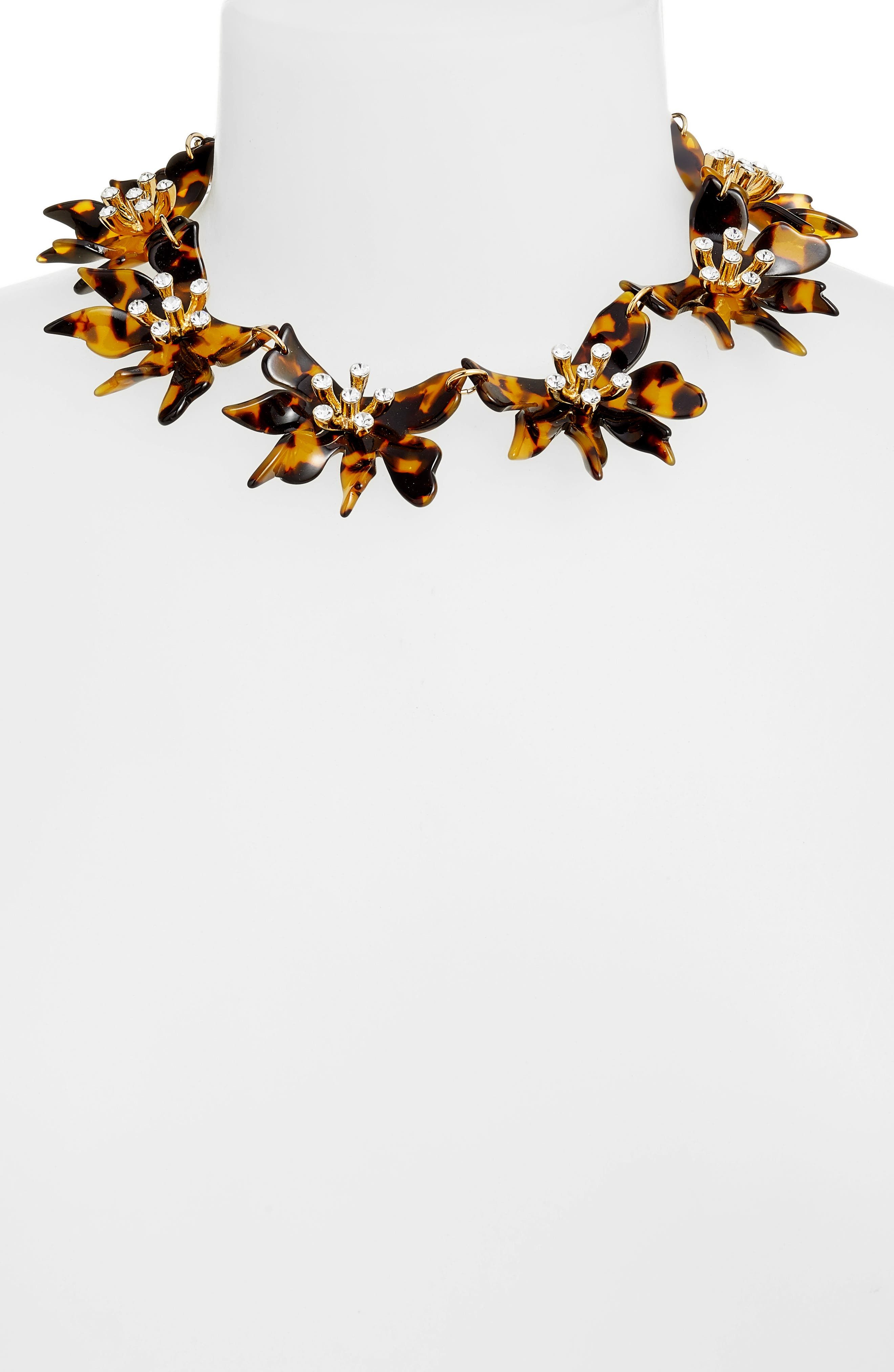 Daffodil Collar Necklace,                             Alternate thumbnail 2, color,                             200