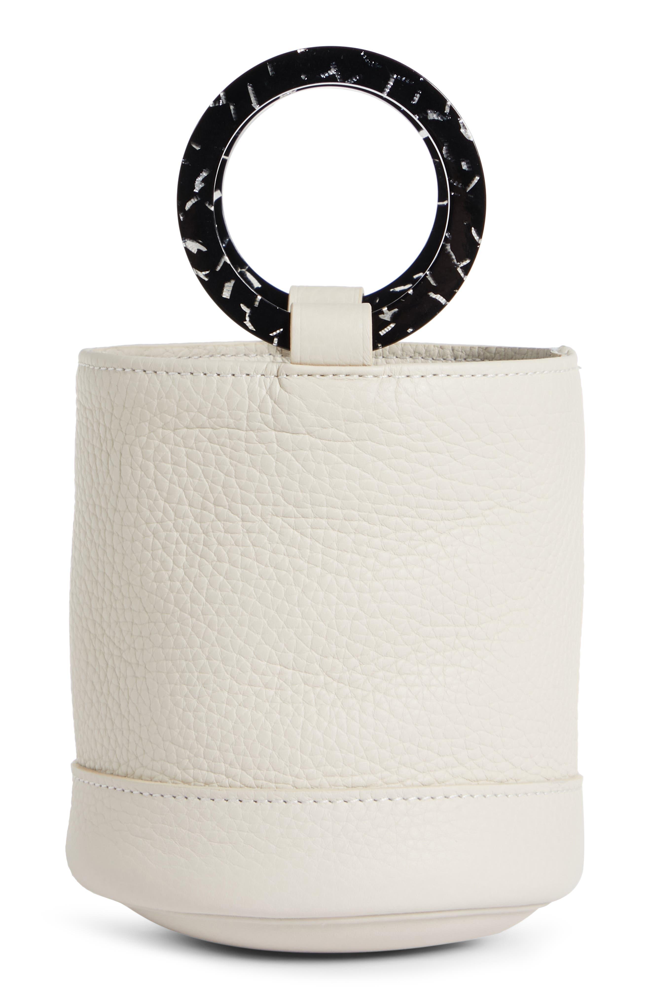 Bonsai 15 Calfskin Leather Bucket Bag,                             Main thumbnail 1, color,                             CLIFF