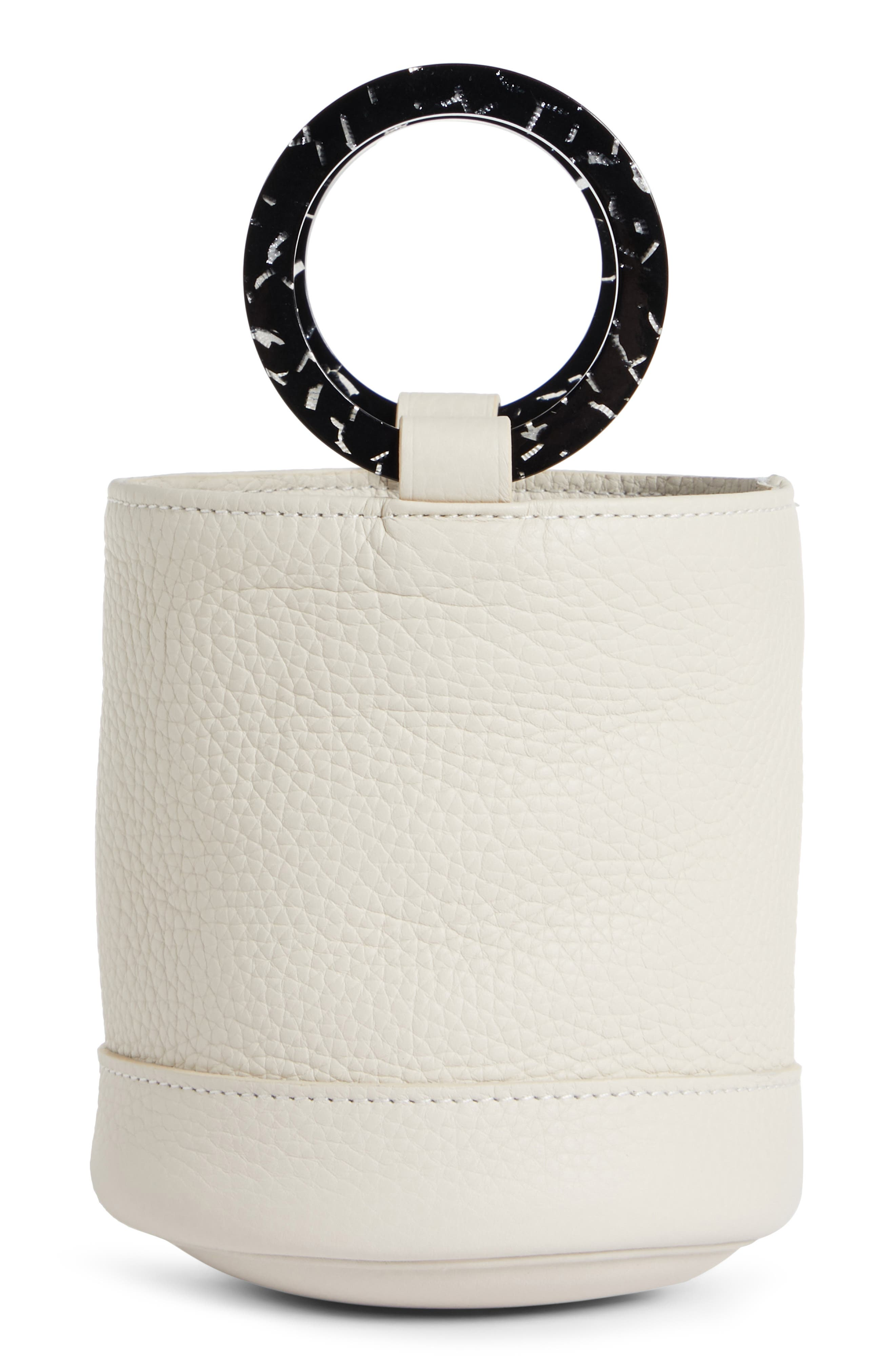 Bonsai 15 Calfskin Leather Bucket Bag,                         Main,                         color, CLIFF