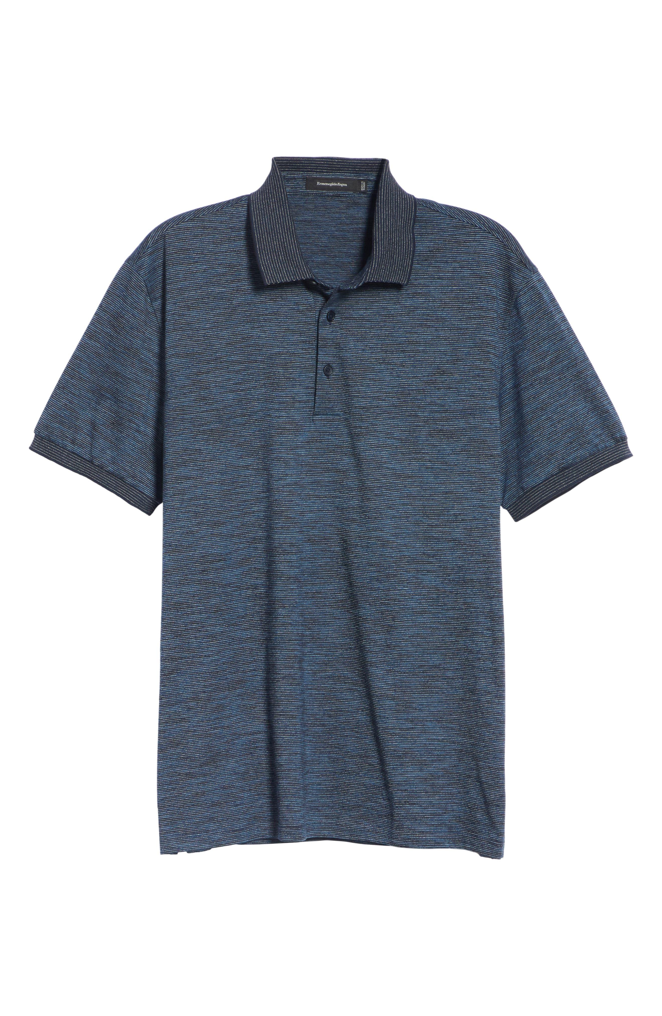 Cotton Polo Shirt,                             Alternate thumbnail 6, color,                             NAVY