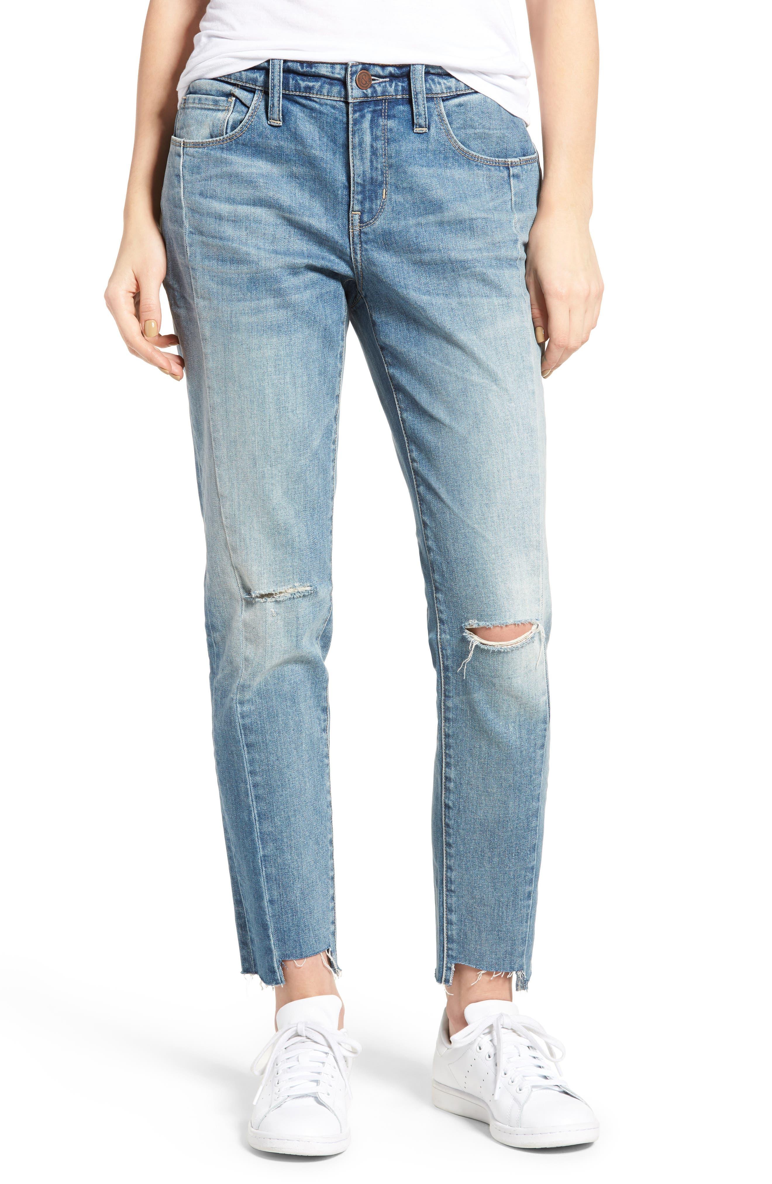 Skinny Boyfriend Jeans,                         Main,                         color, 400
